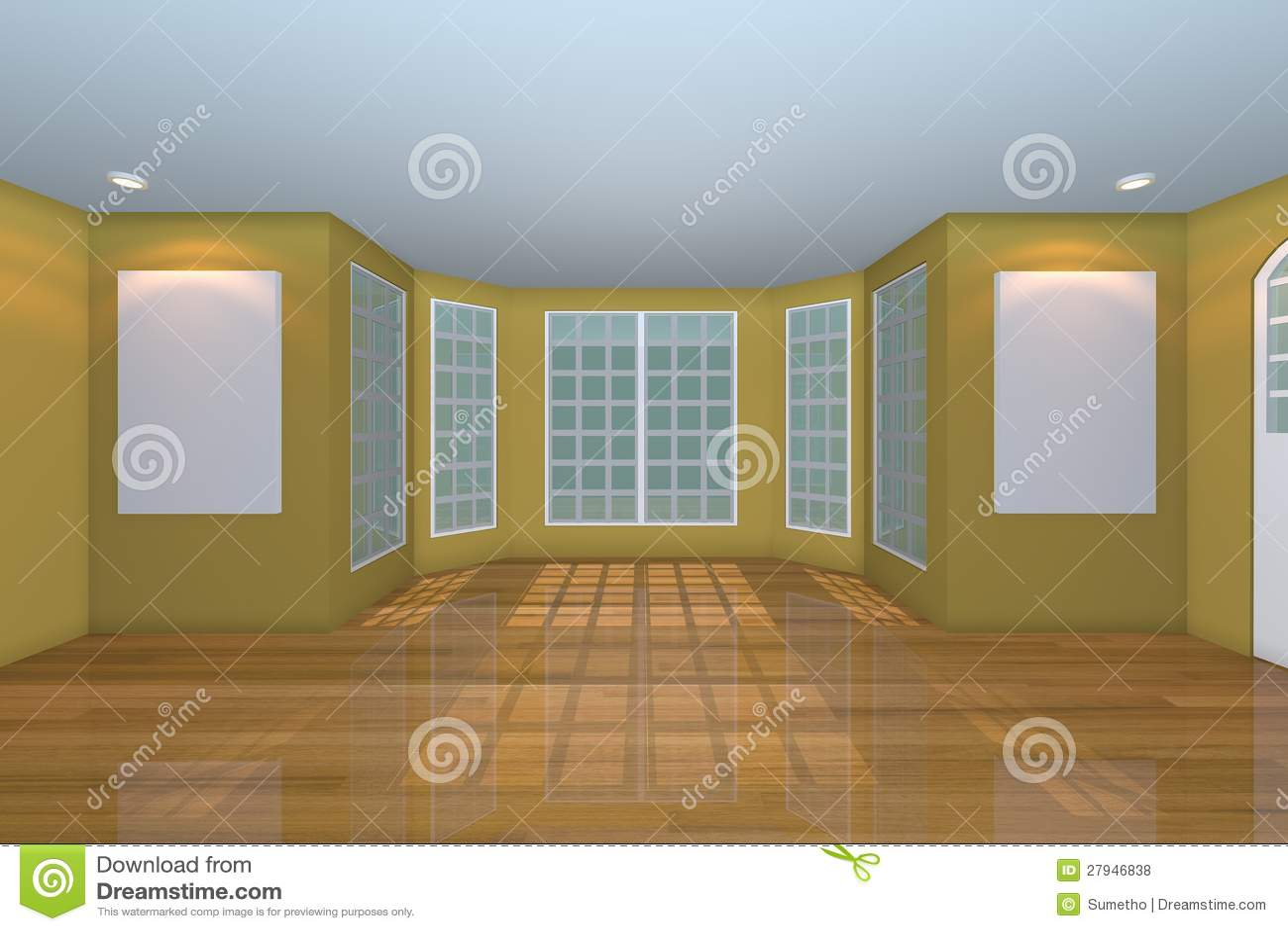 Lege gele woonkamer royalty vrije stock foto's   afbeelding: 27946838