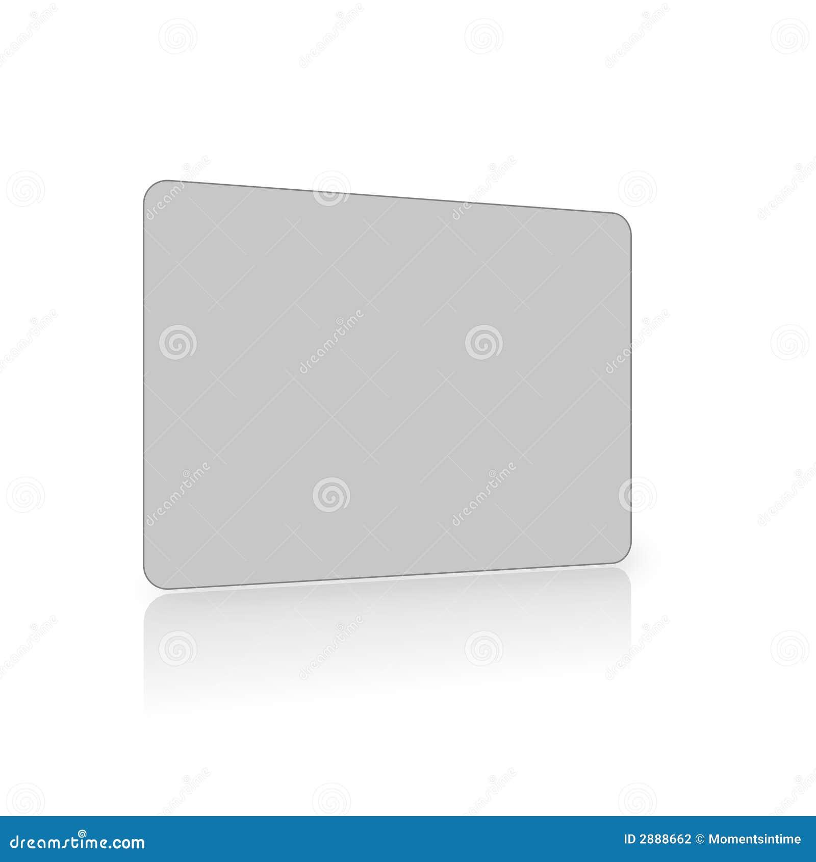 Lege grijze kaart op wit