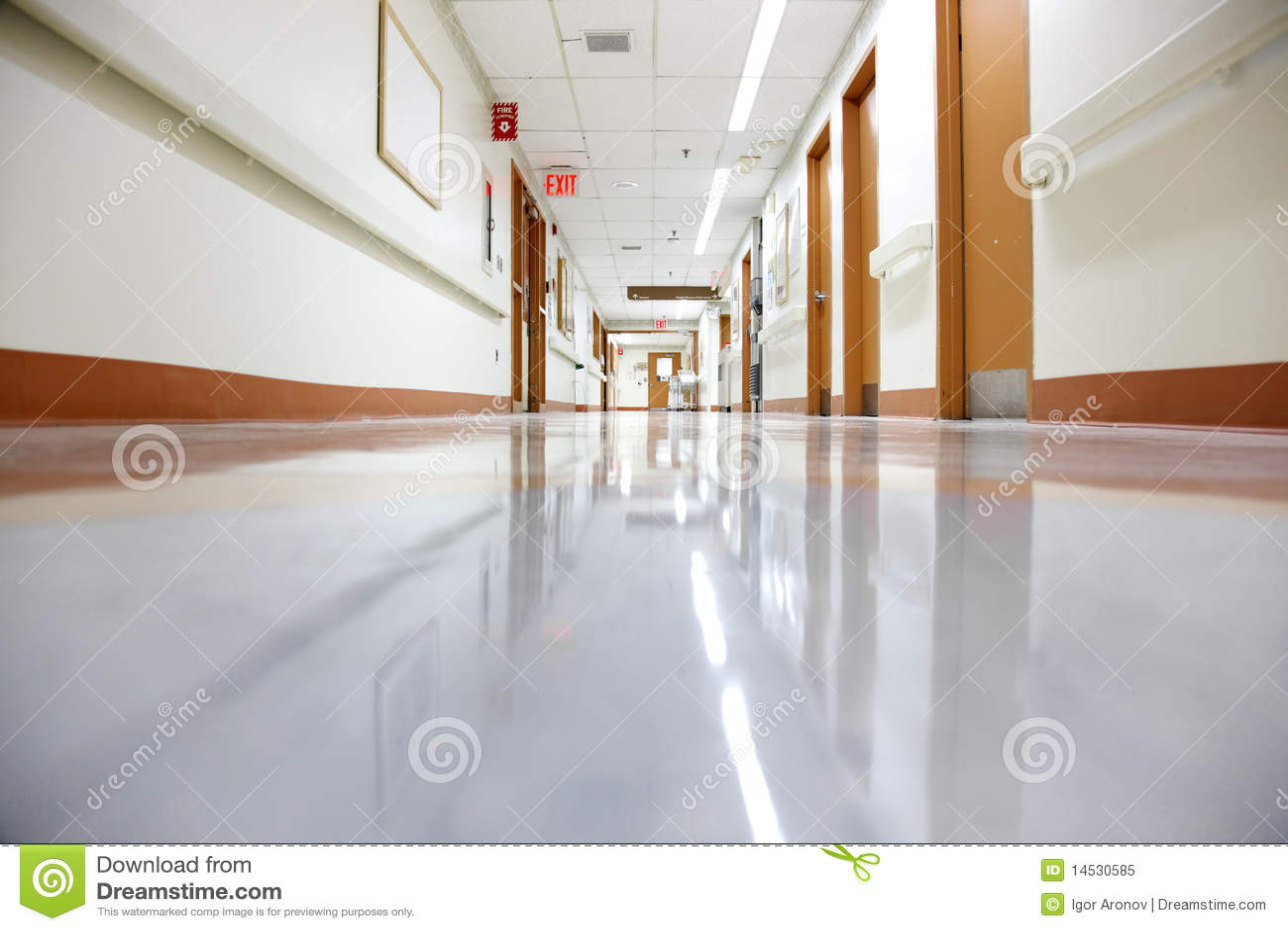 Lege het ziekenhuisgang