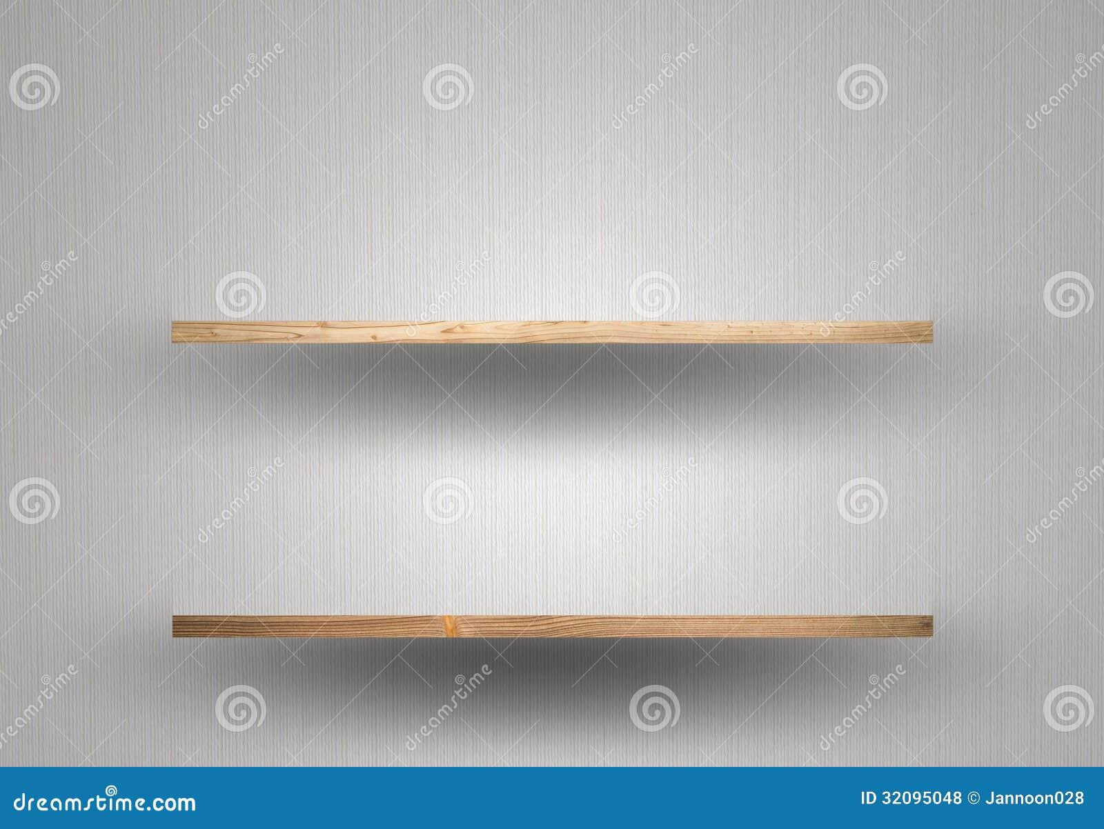 Lege Houten Plank Op Muur Royalty-vrije Stock Fotos - Afbeelding ...