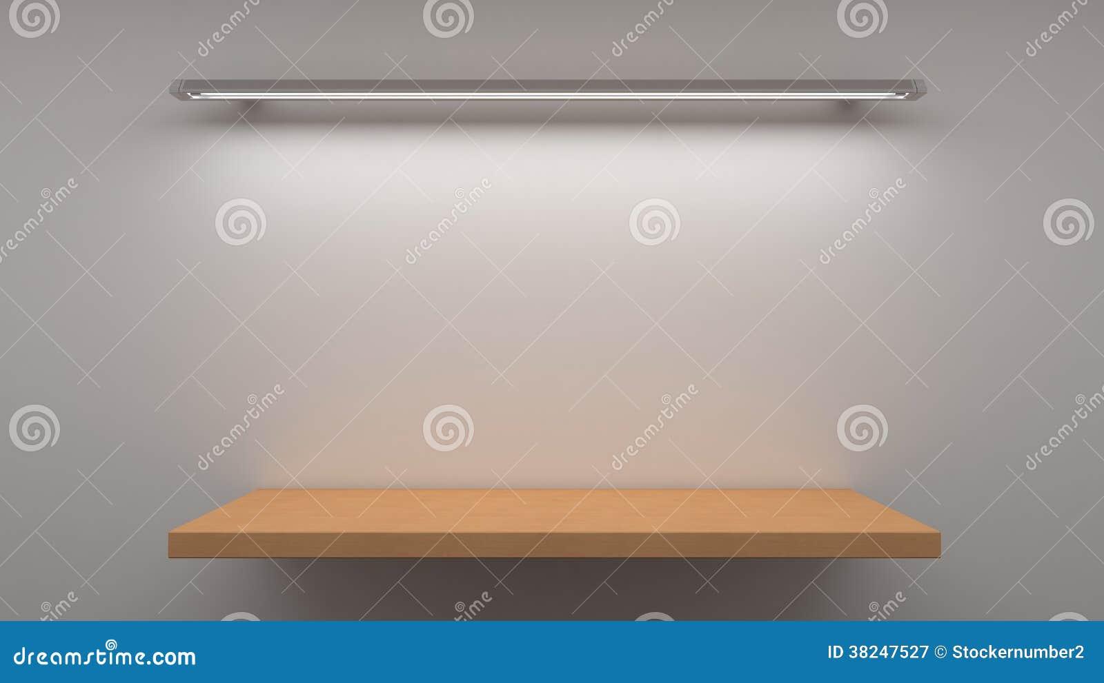 Houten Plank Voor Aan De Muur.Lege Houten Plank Op Muur Stock Illustratie Illustratie Bestaande