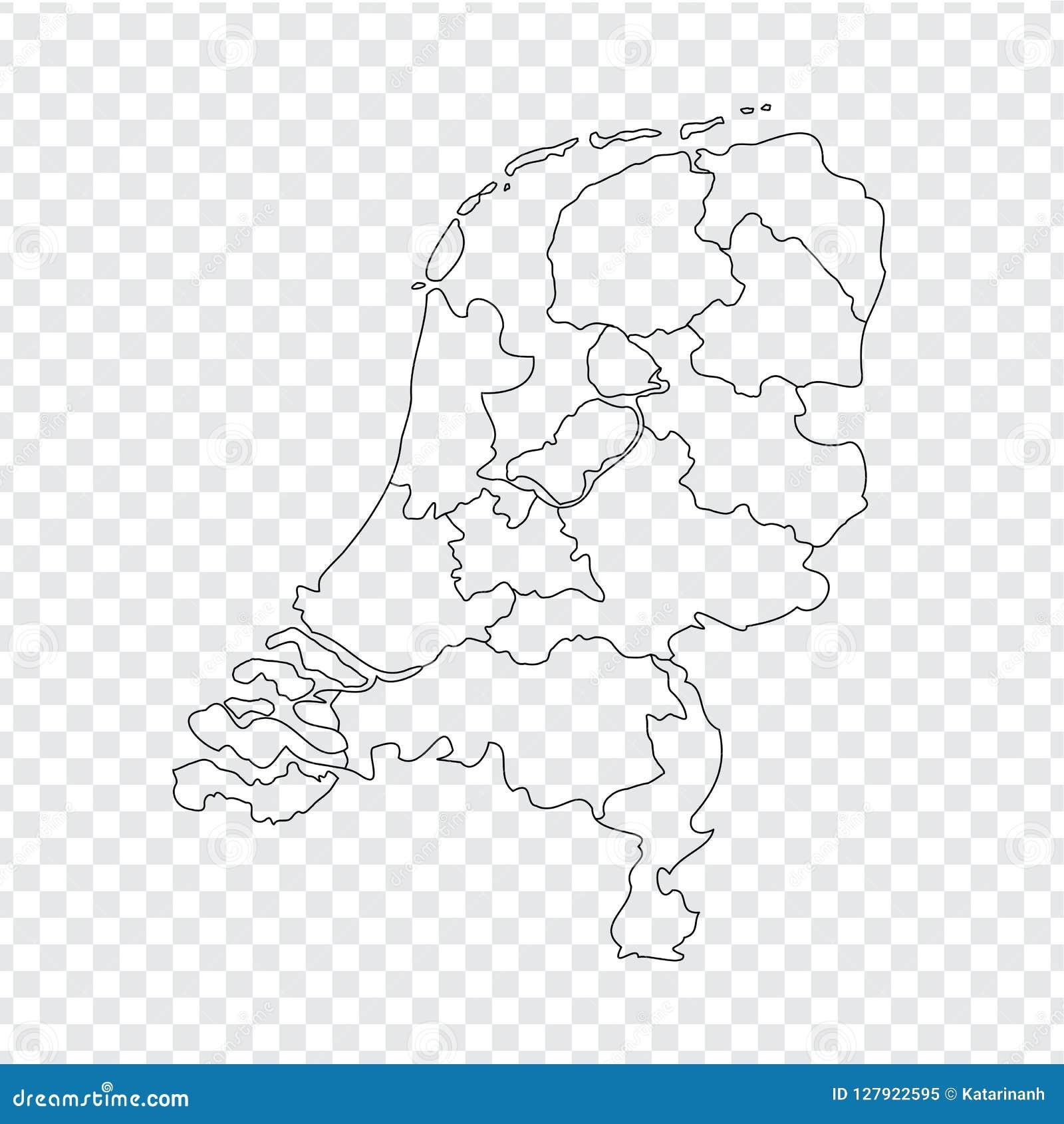 Lege Kaart Nederland Hoog Het Koninkrijk Van De Kwaliteitskaart
