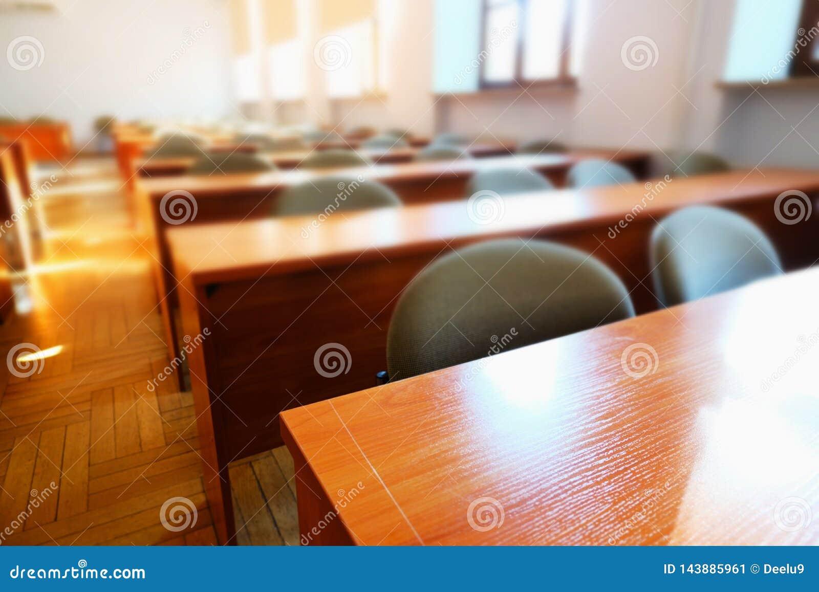 Lege lezingszaal bij universiteit