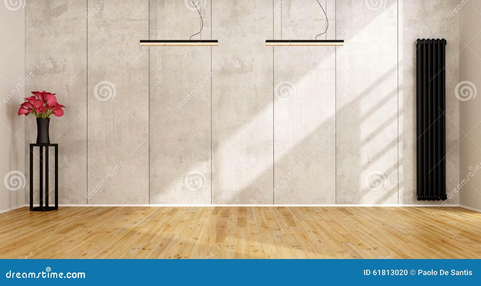 Woonkamer Radiator Verticaal : Lege minimalistische woonkamer stock illustratie illustratie