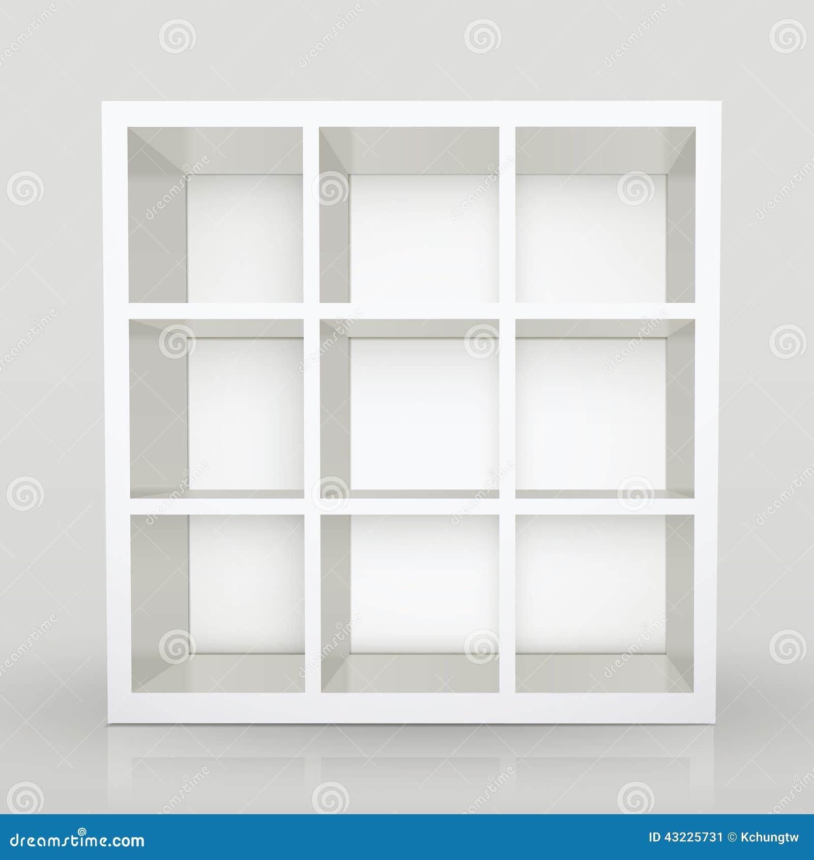 Lege moderne boekenkast vector illustratie afbeelding 43225731 - Moderne boekenkast ...