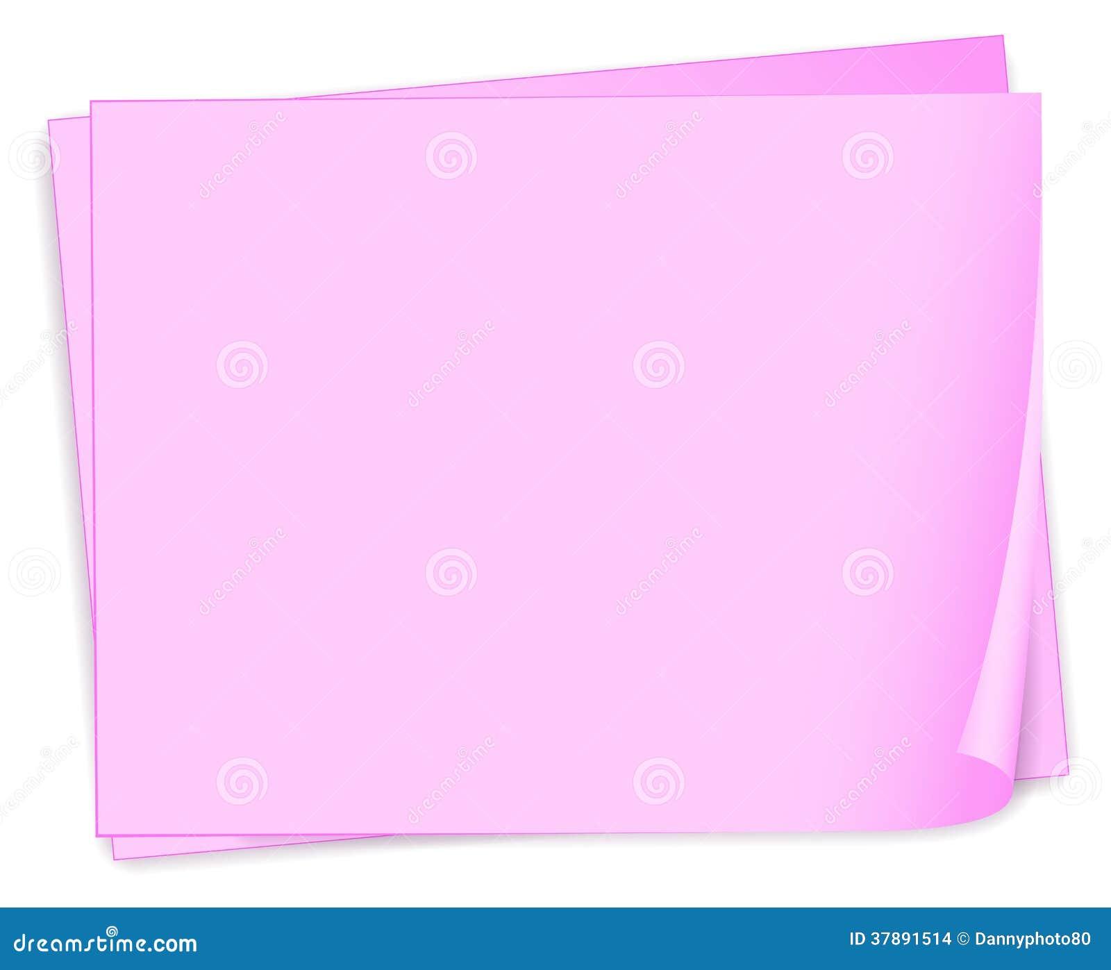 Lege roze documenten