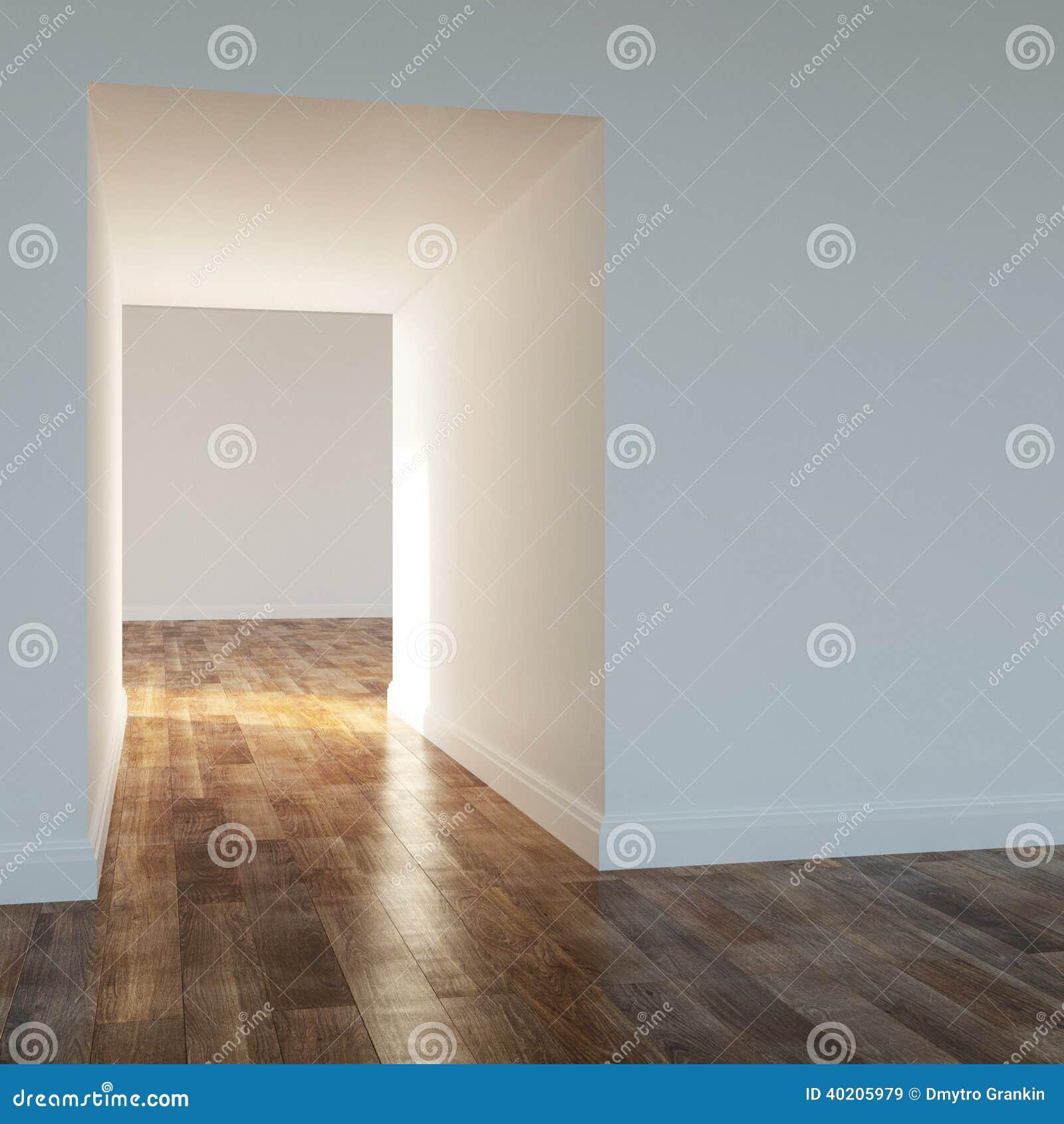Lege ruimte in een modern huis