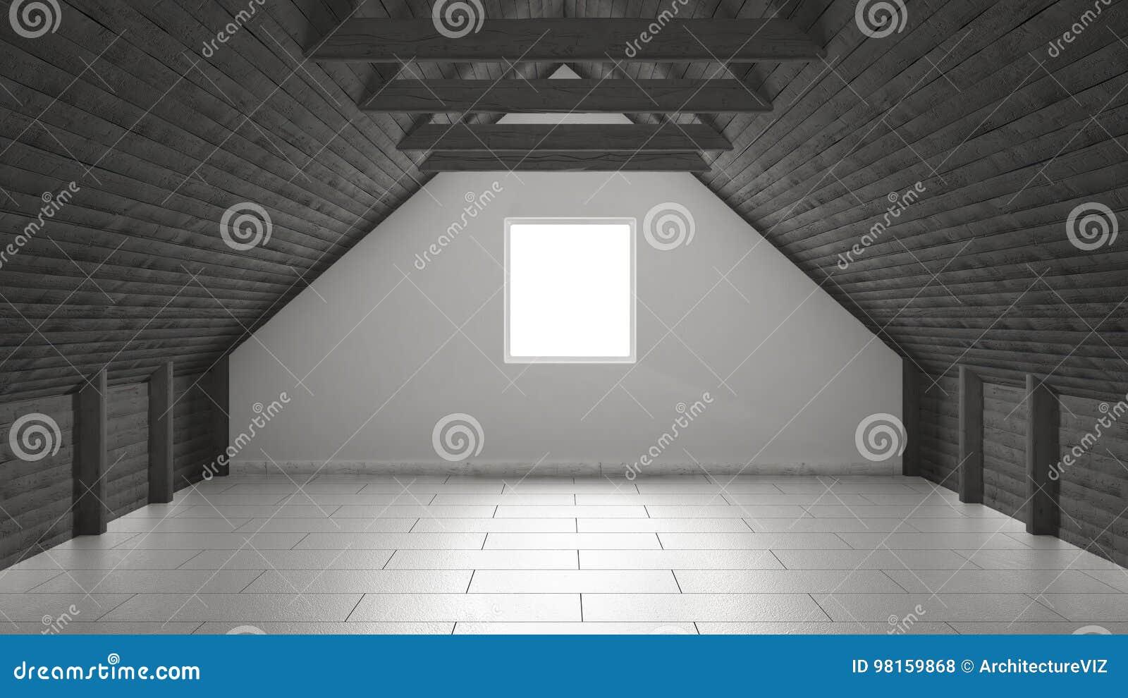 Lege ruimte mezzanine zolder het binnenlandse ontwerp van de