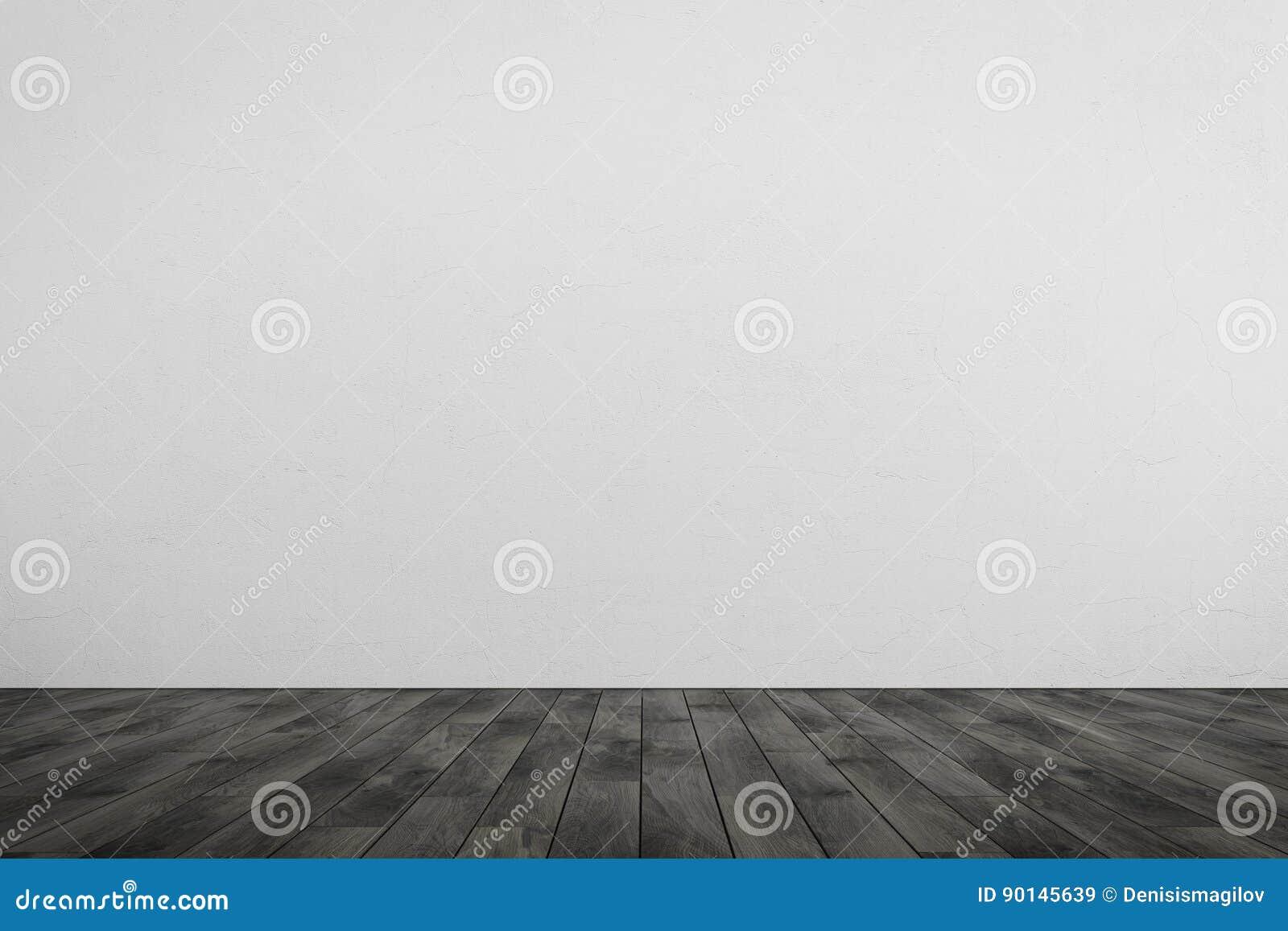 Houten Vloer Grijs : Lege ruimte witte muur grijze houten vloer stock illustratie