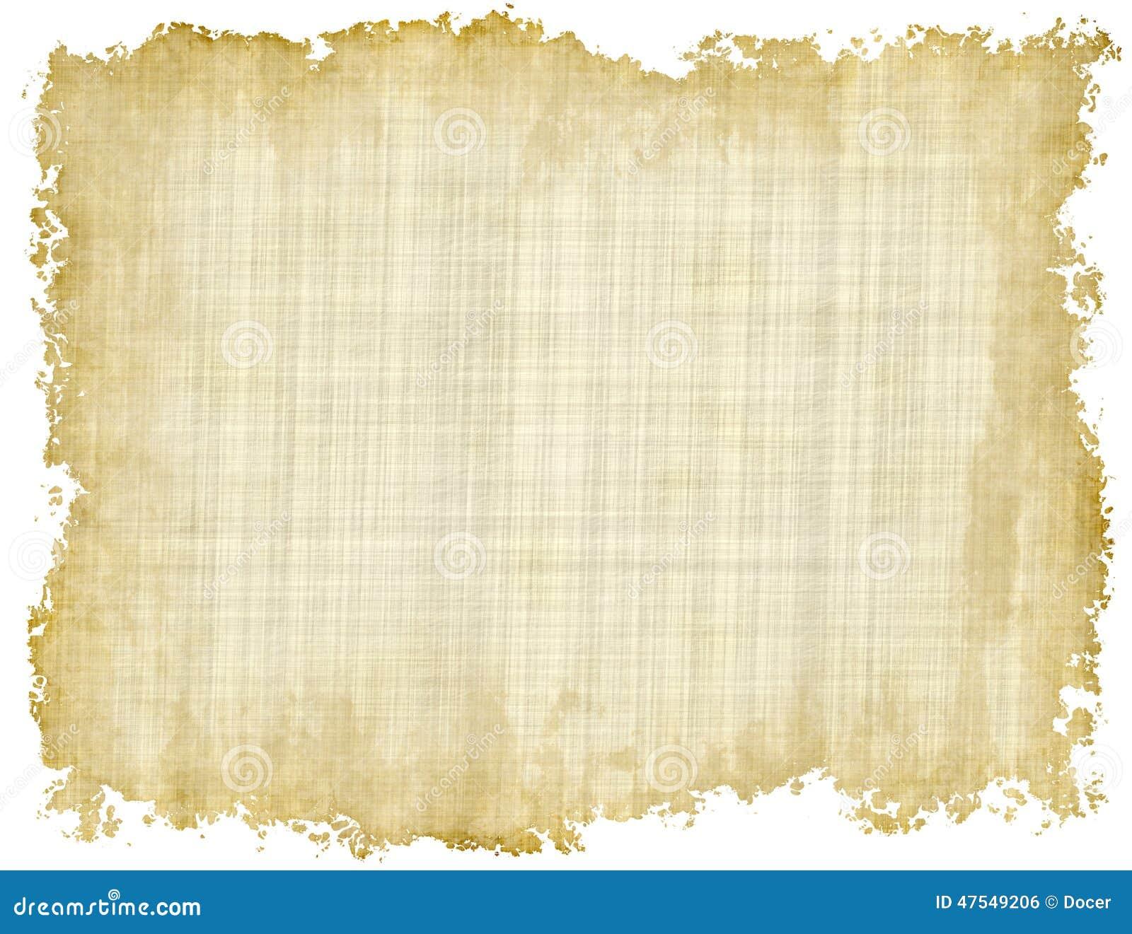 Lege Uitstekende Document Textuur met ongelijke randen op witte backgroun