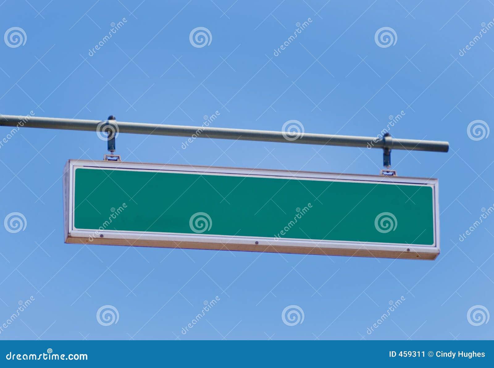 Lege verkeersteken