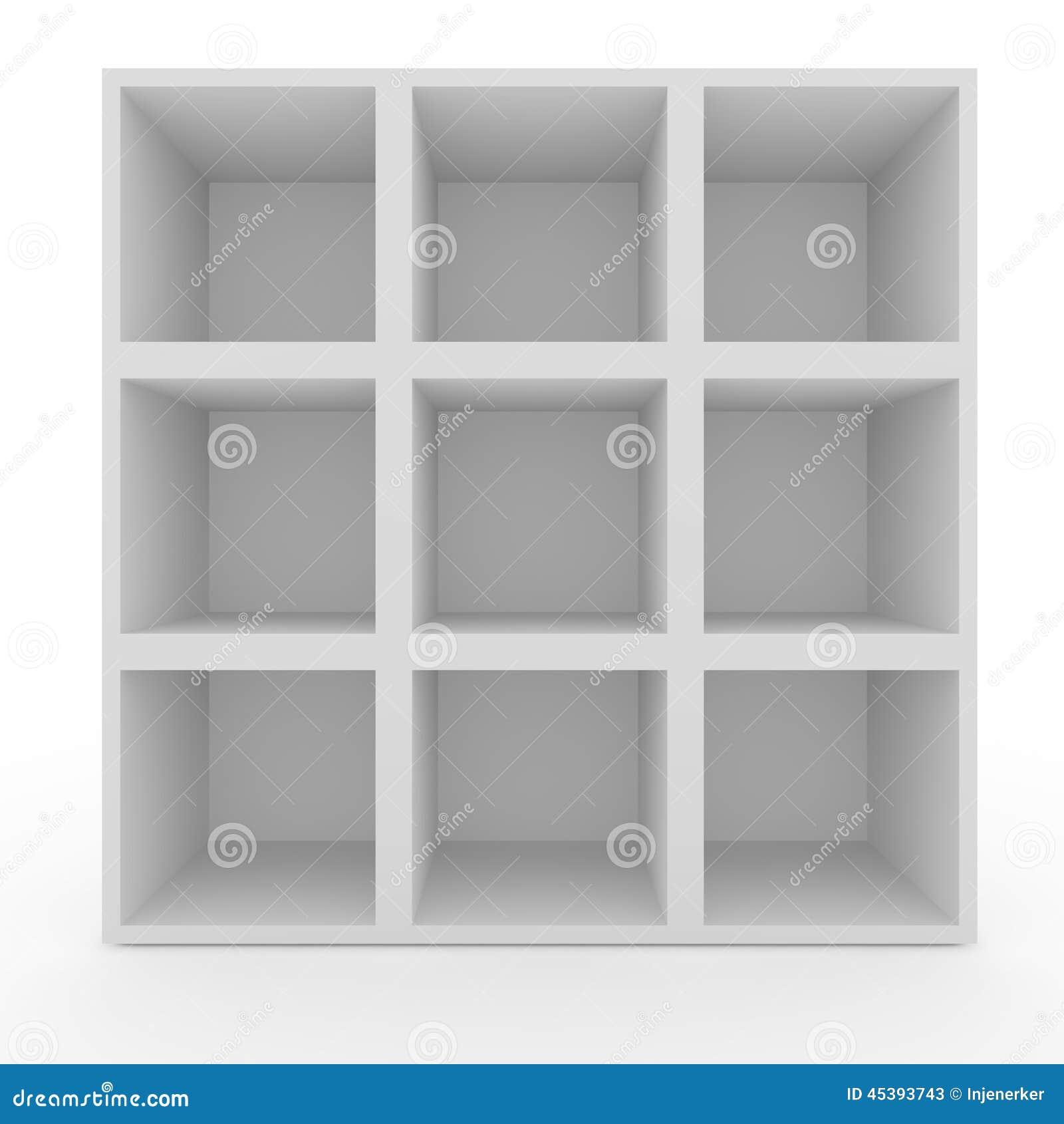 Lege Witte Planken Zonder Verlichting Stock Afbeelding - Afbeelding ...