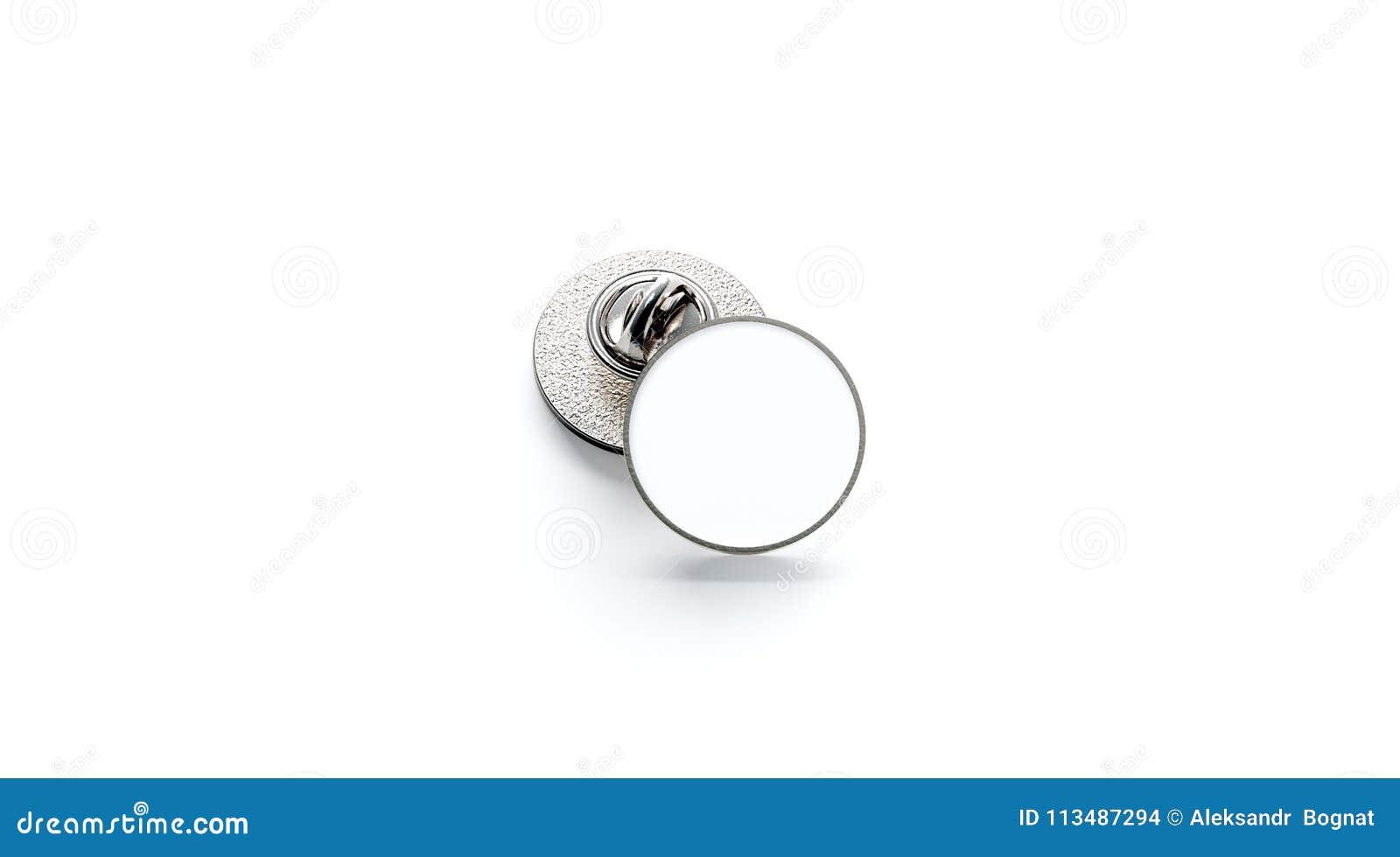 Lege witte ronde zilveren het modelstapel van het reverskenteken,