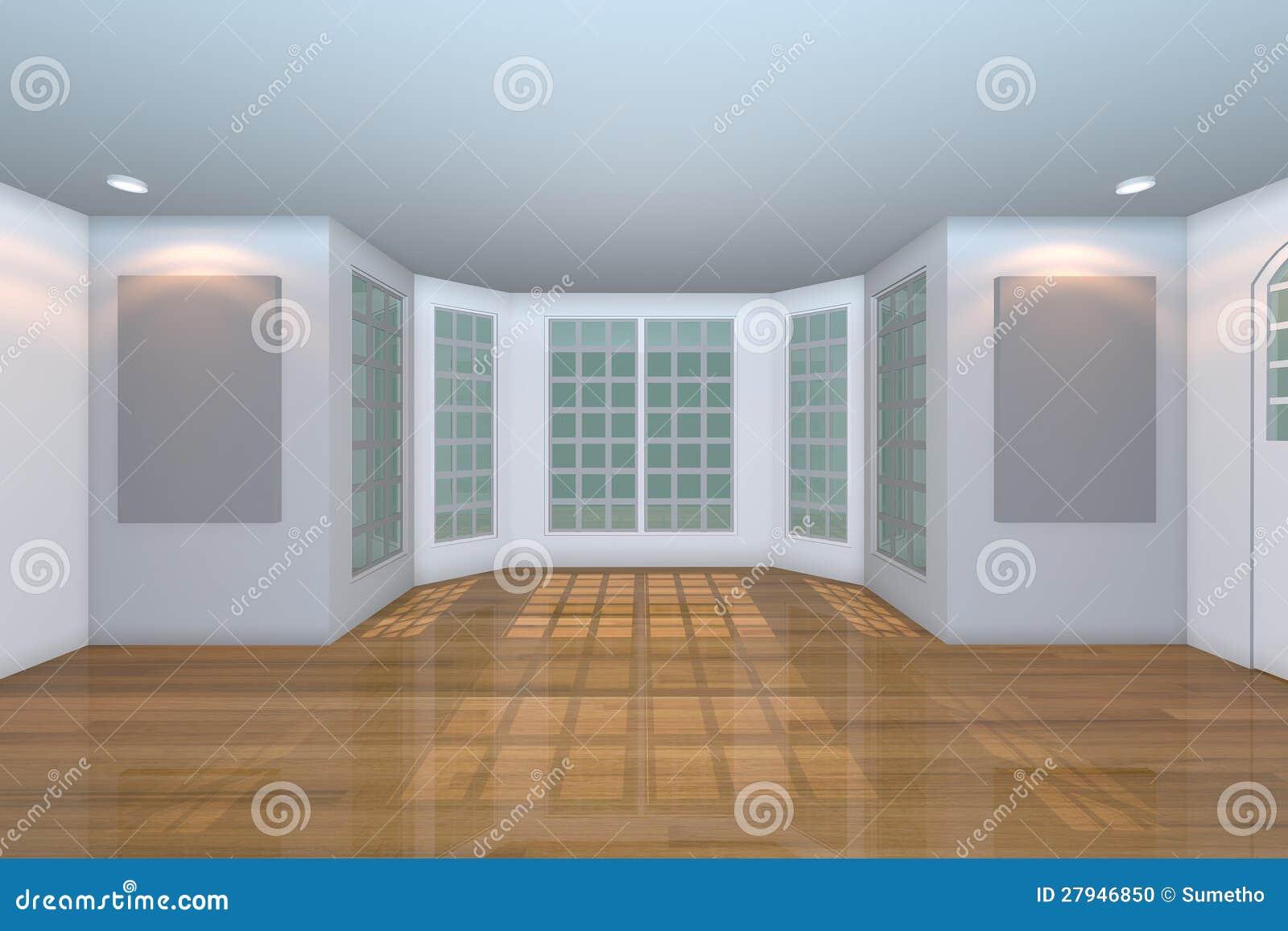 Lege Witte Woonkamer Stock Foto - Afbeelding: 27946850