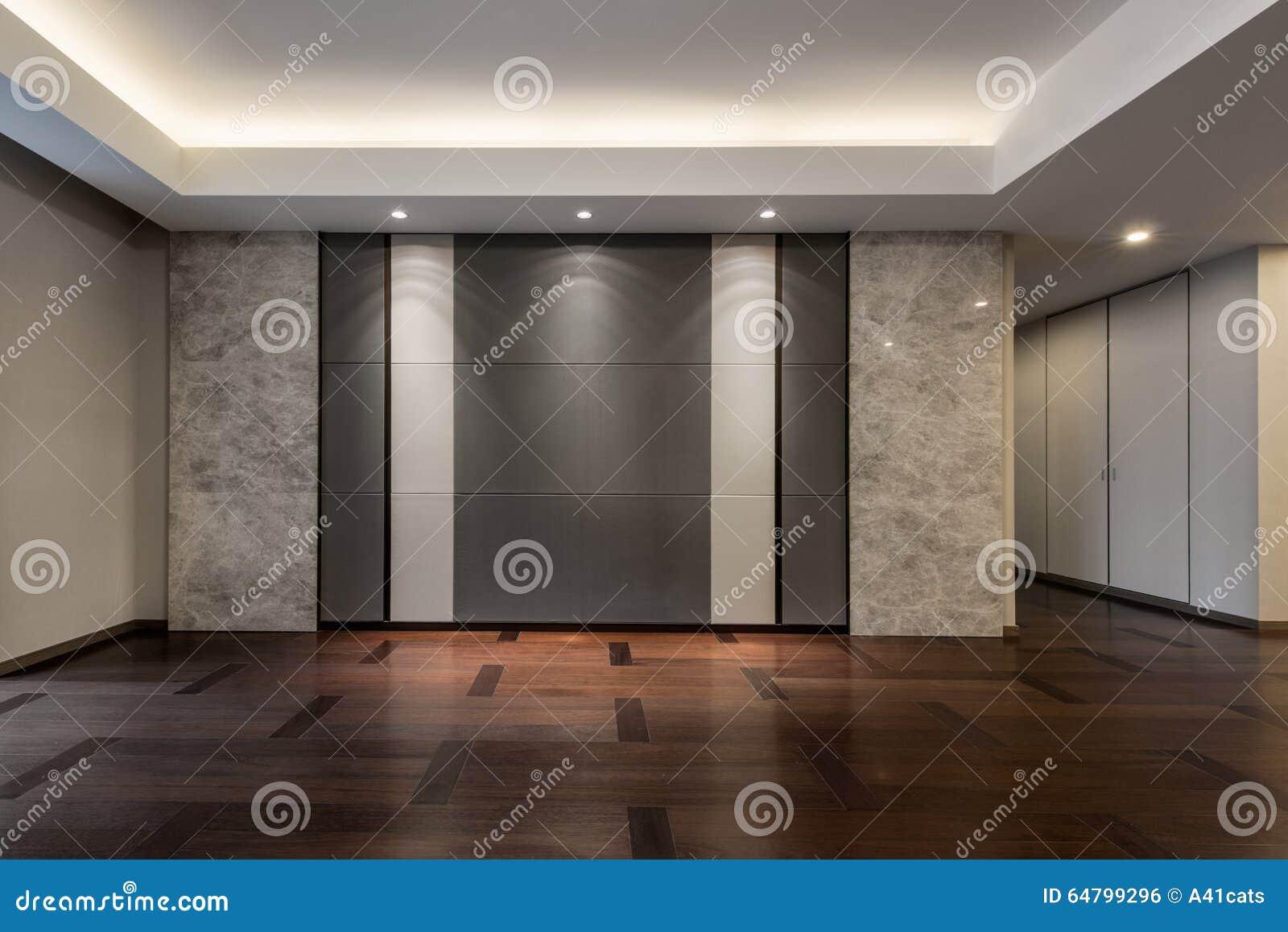 Lege woonkamer in grijze kleur stock foto afbeelding: 64799296