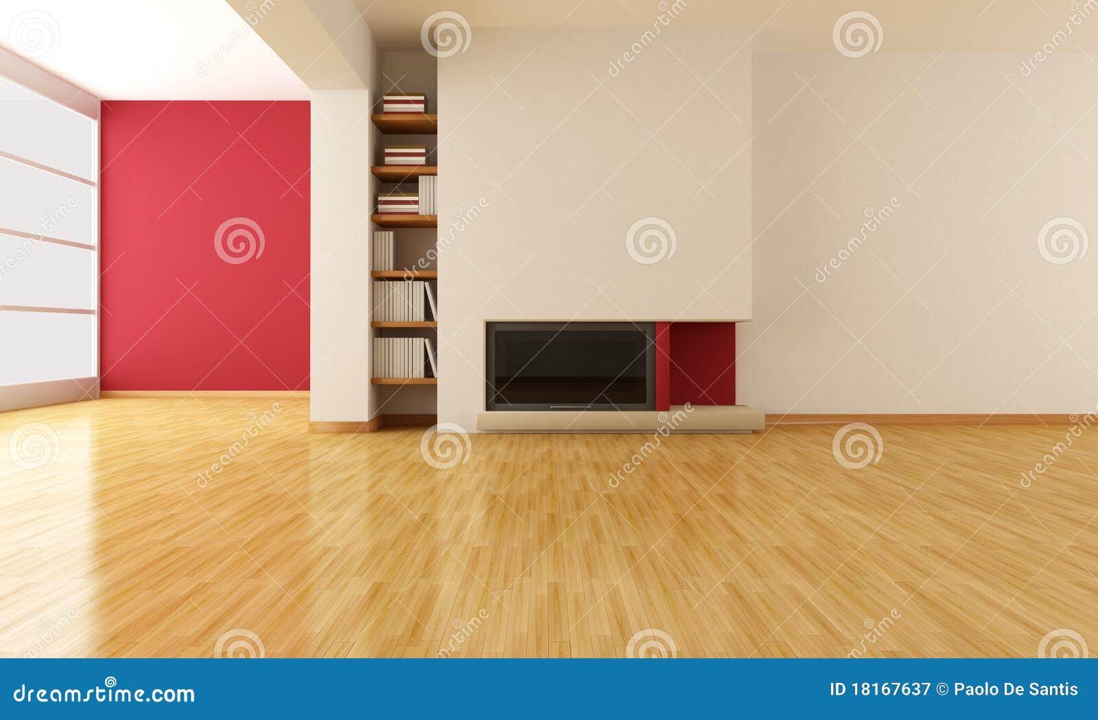 Minimalistische woonkamer met open haard stock foto   afbeelding ...