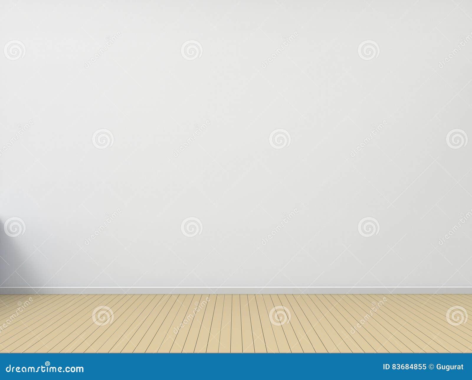 Lege Zaal Houten Vloer Met Witte Muur Eigentijdse Woonkamer Stock Illustratie   Afbeelding  83684855