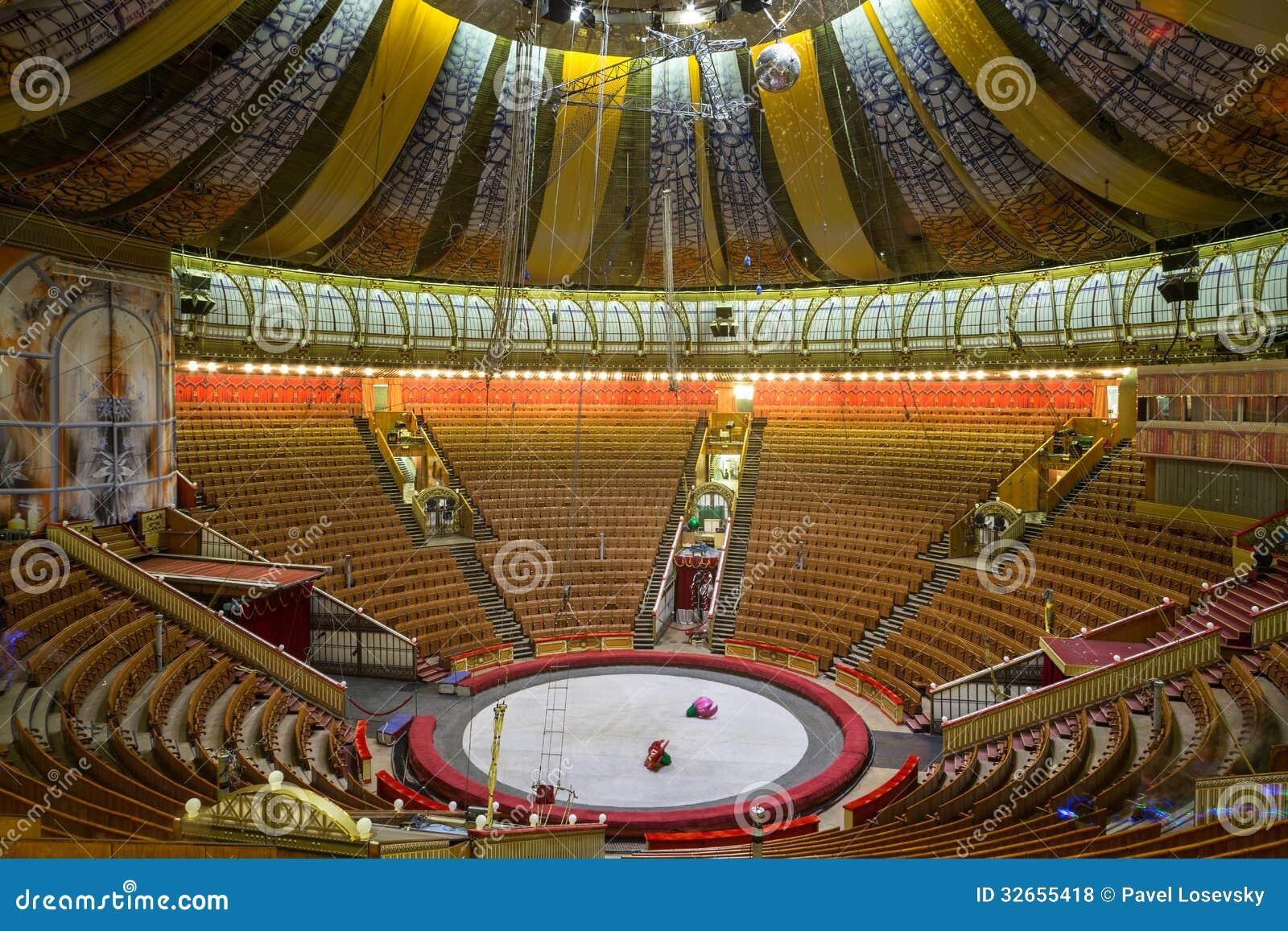 Lege zaal van het grote circus van de staat van moskou redactionele stock foto afbeelding - Versiering van de zaal van het tienermeisje van ...