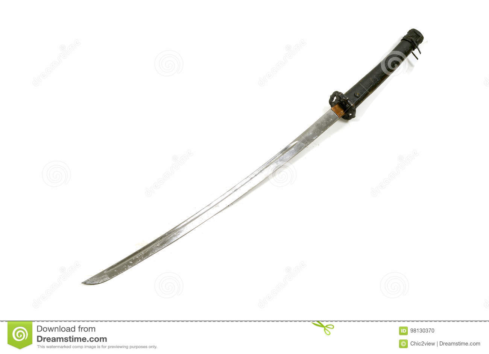 Legend av det långa svärdet för forntida samurajer