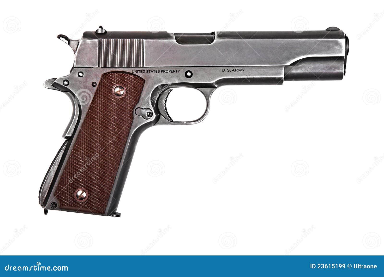 Legendary U.S. Army Handgun. Stock Image - Image: 23615199