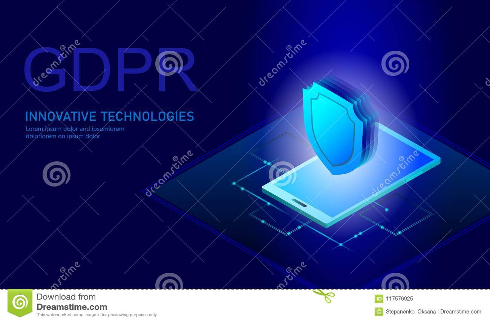 Legge GDPR di protezione dei dati di segretezza Unione Europea dello schermo di sicurezza di informazione sensibile di regolament