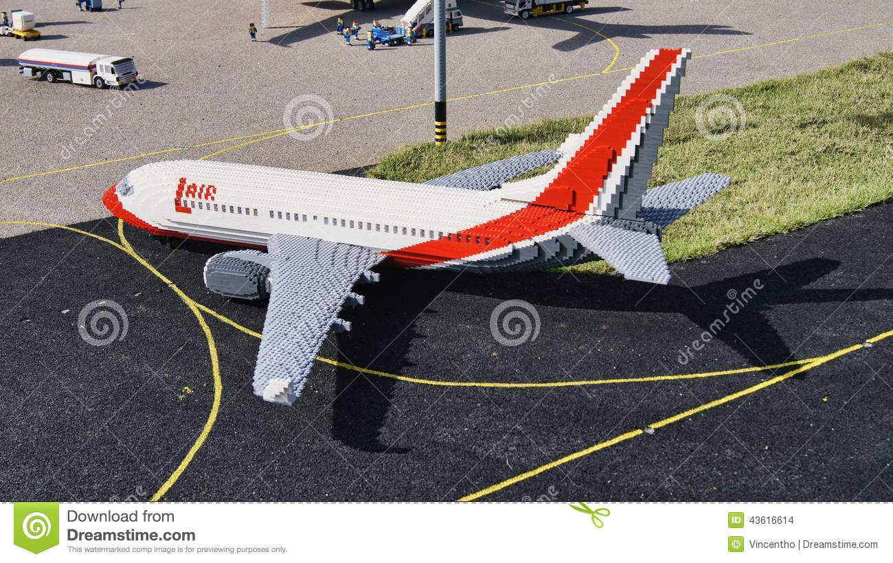 Lego Airplane On The Runway Editorial Stock Image - Image: 43616614