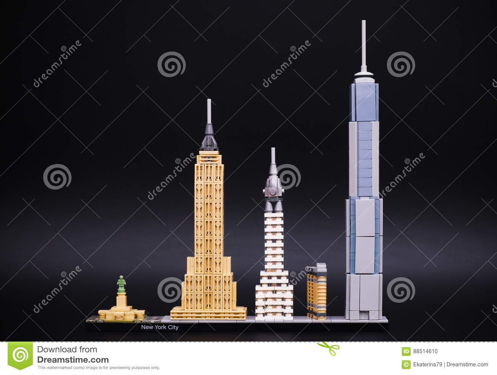 Lego Architecture Skyline Model - New York City Editorial Image