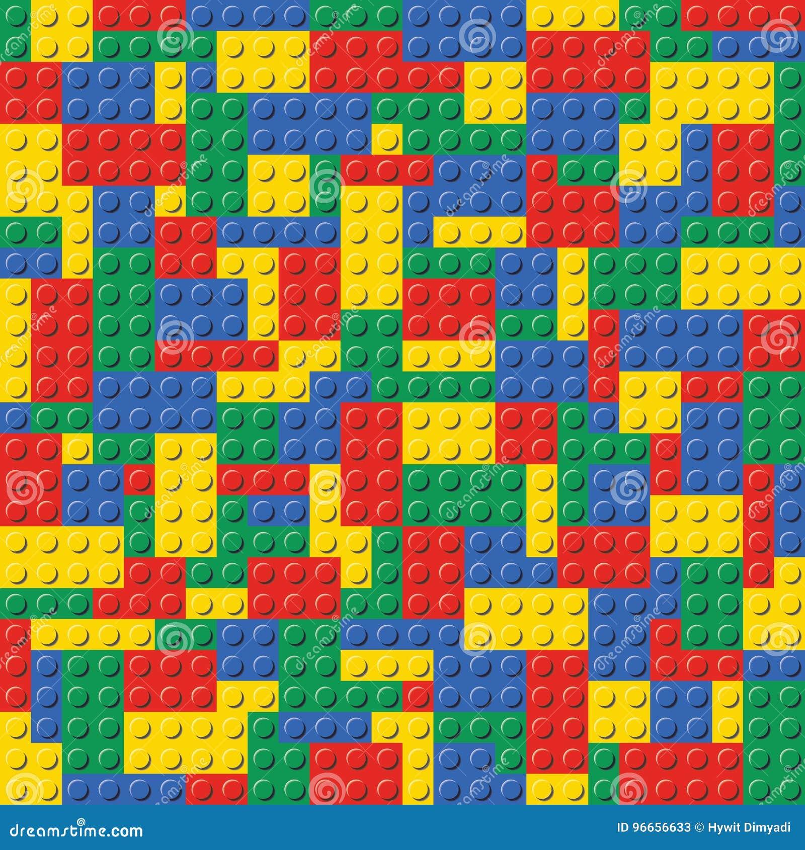 Lego Brick Seamless Background Pattern