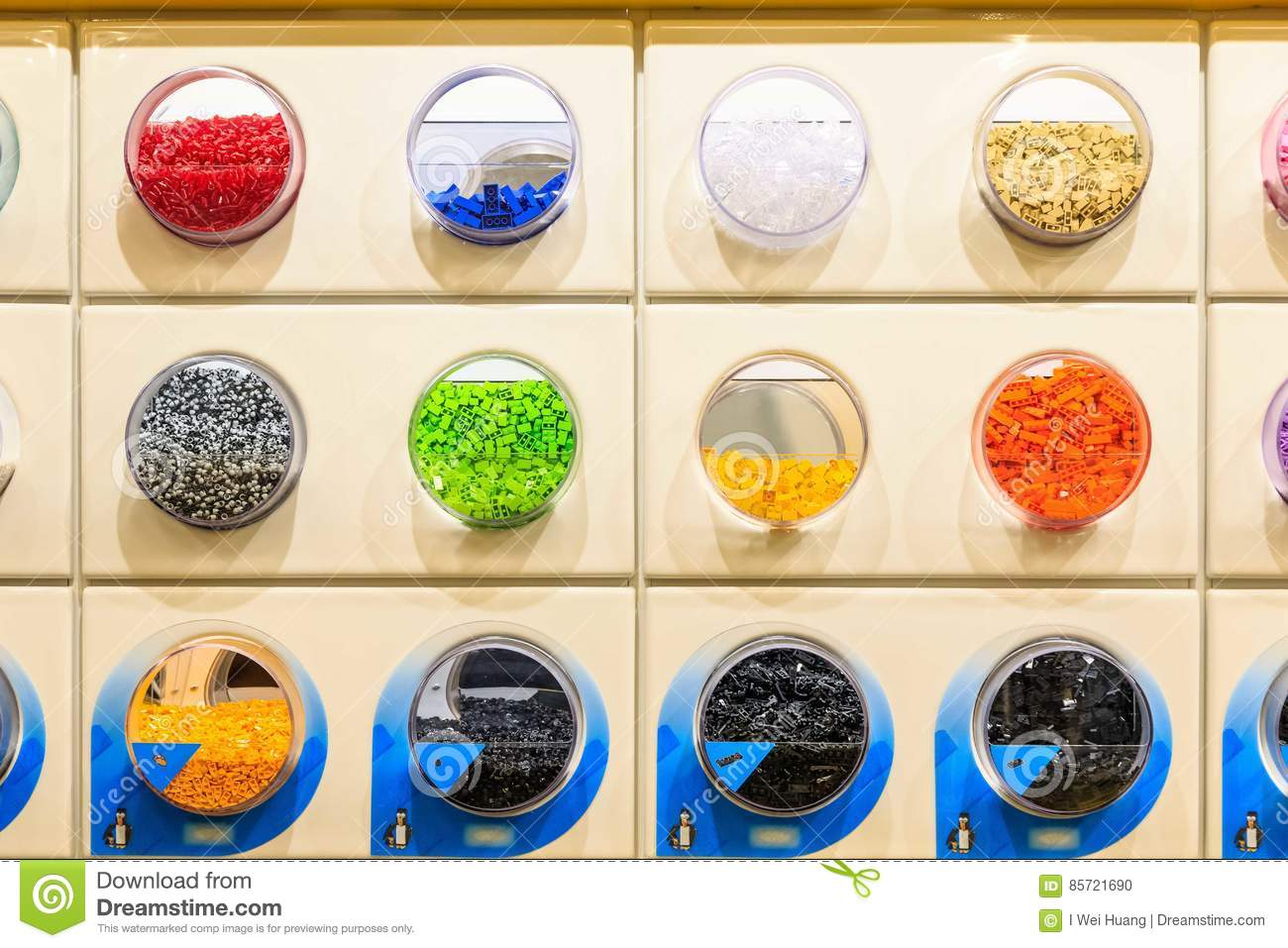 LEGO Bricks Displayed In LEGO Store Editorial Image - Image of