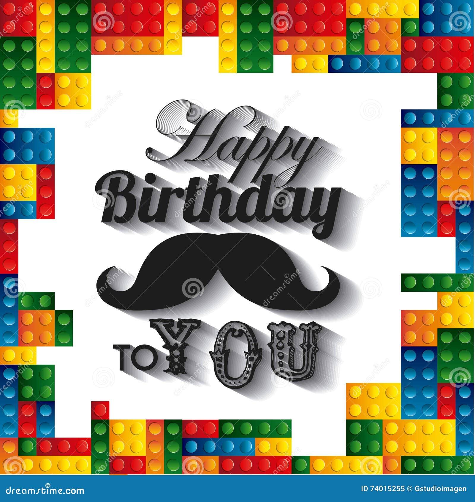 Lego frame icon happy birthday design vector graphic stock download comp stopboris Gallery