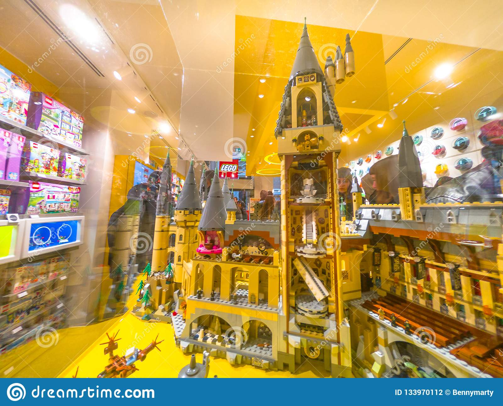 Lego Harry Potter Hogwarts Castle Editorial Photography Image Of