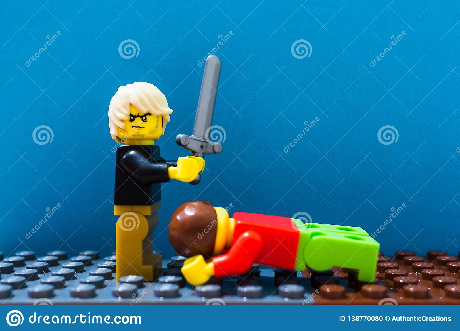 Lego man and sword editorial image  Image of editorial