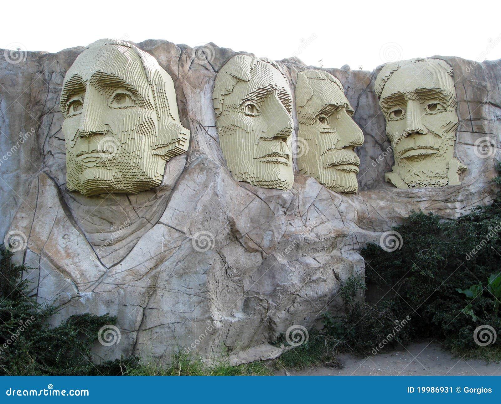 Lego Mount Rushmore editorial photo  Image of america - 19986931