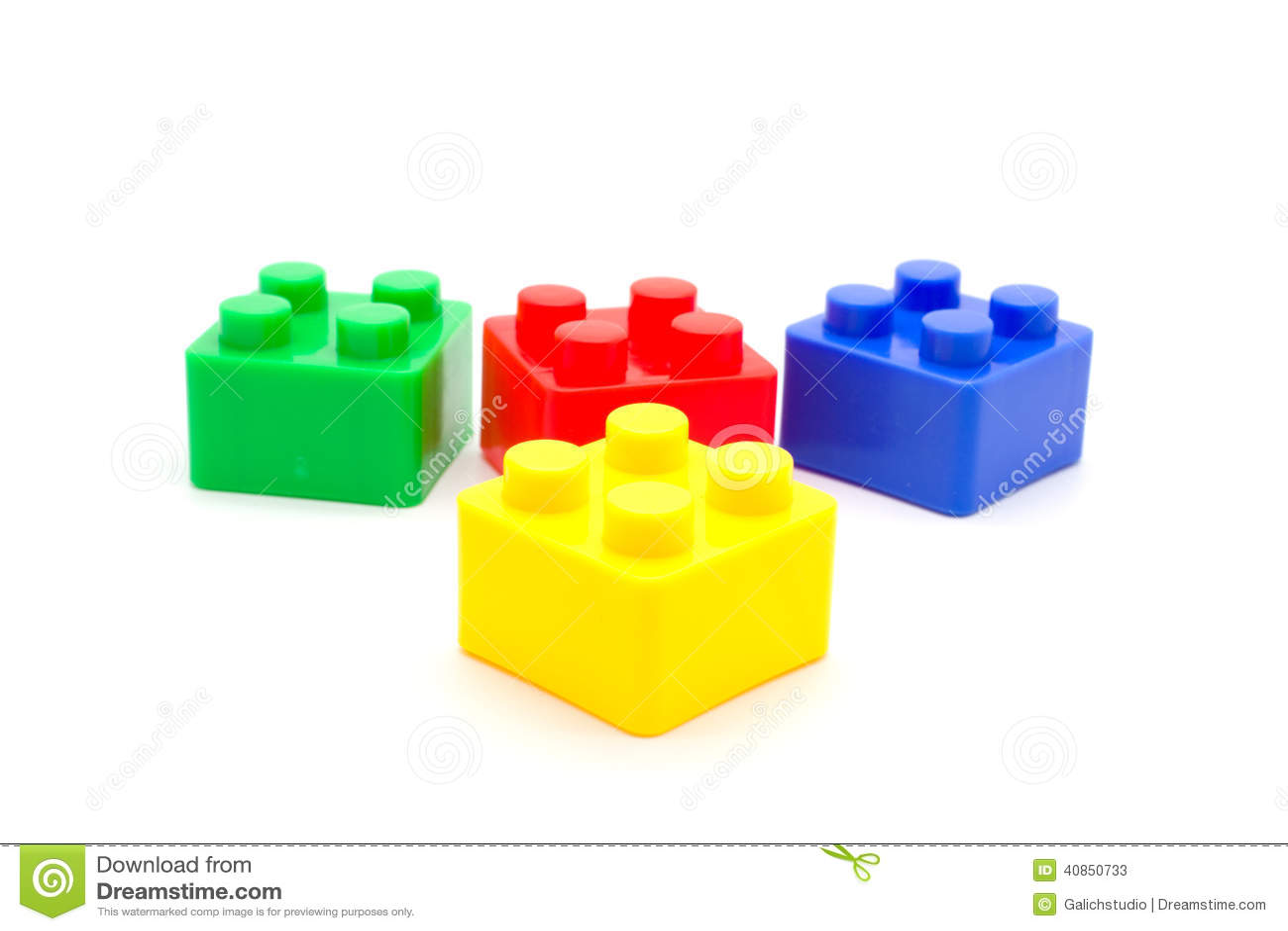Lego Plastic Building Blocks On White Stock Photo Image