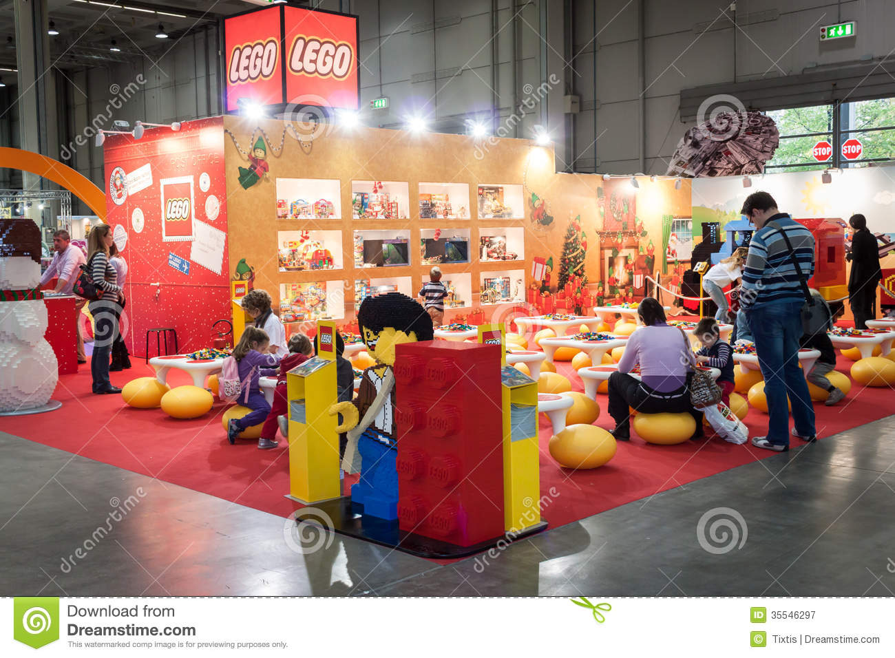 Exhibition Stand Vector : Lego stand at g come giocare in milan italy editorial