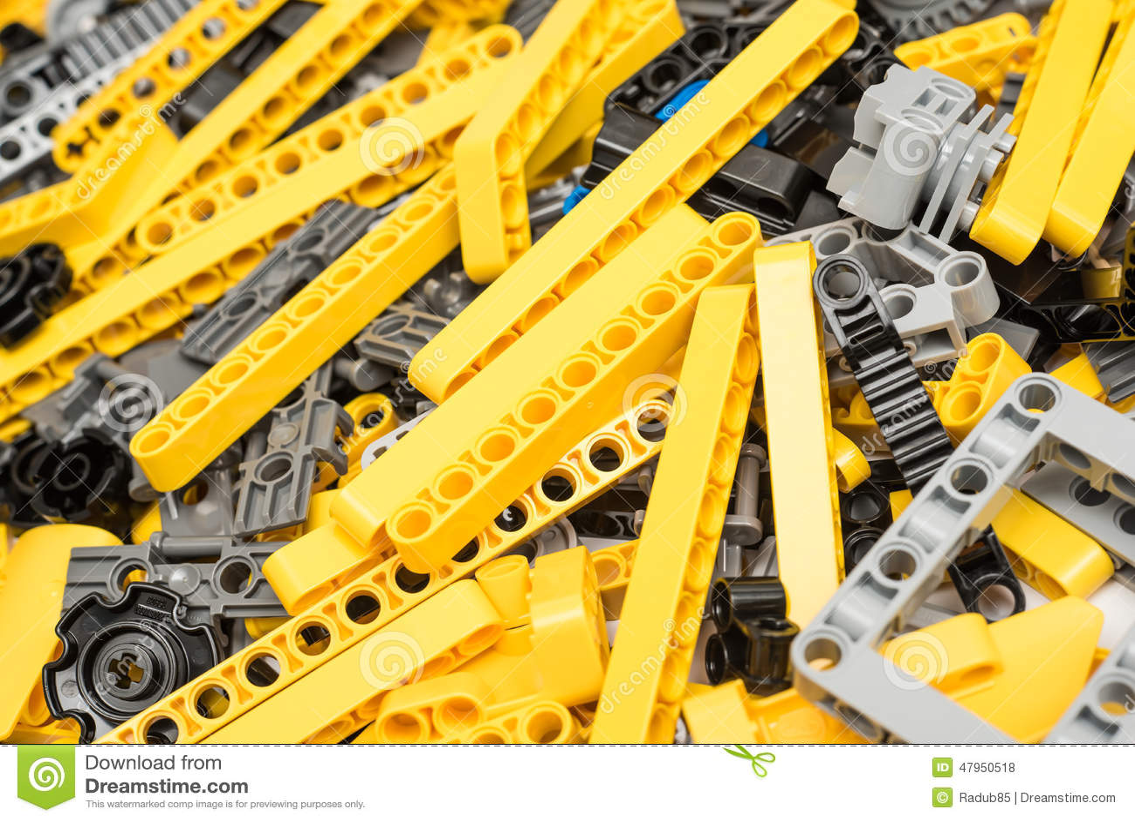 Lego Technic Pieces Pile Close Su Fotografia Stock ...