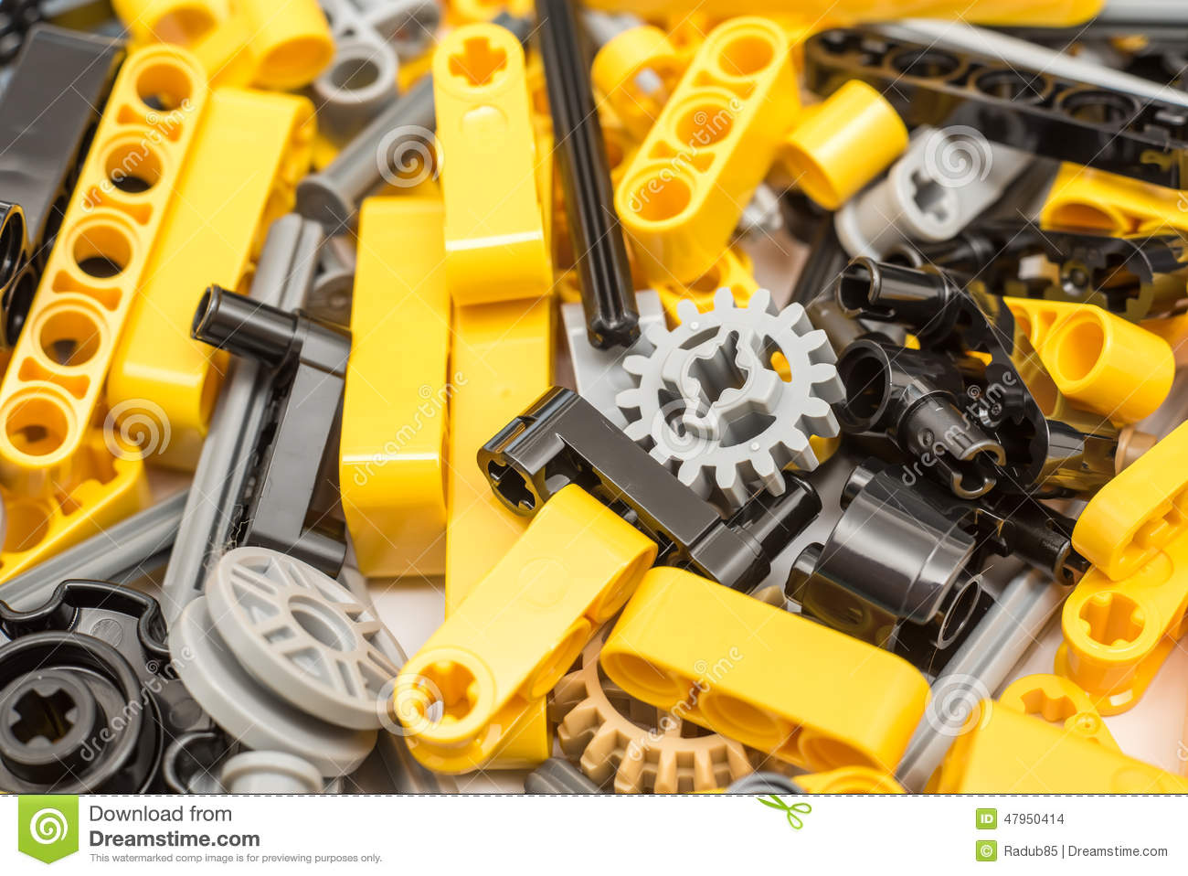 lego technic pieces pile close up editorial stock image image 47950414. Black Bedroom Furniture Sets. Home Design Ideas