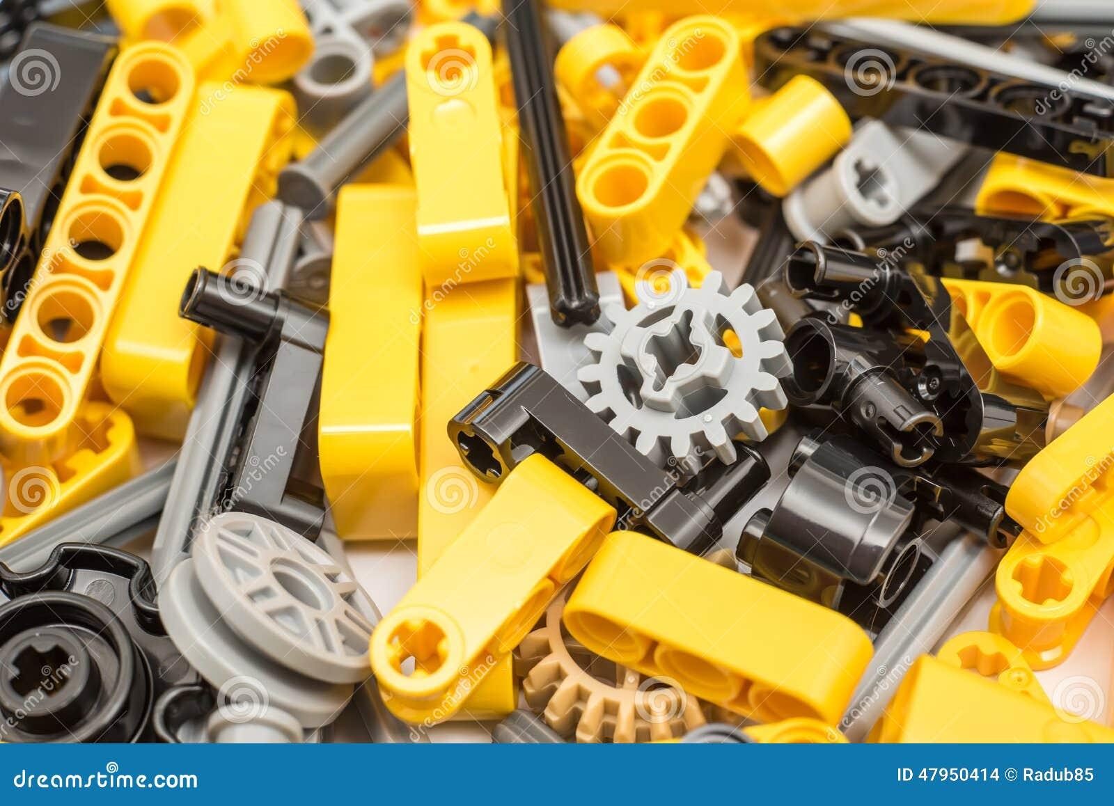 Lego Technic Pieces Pile Close upp