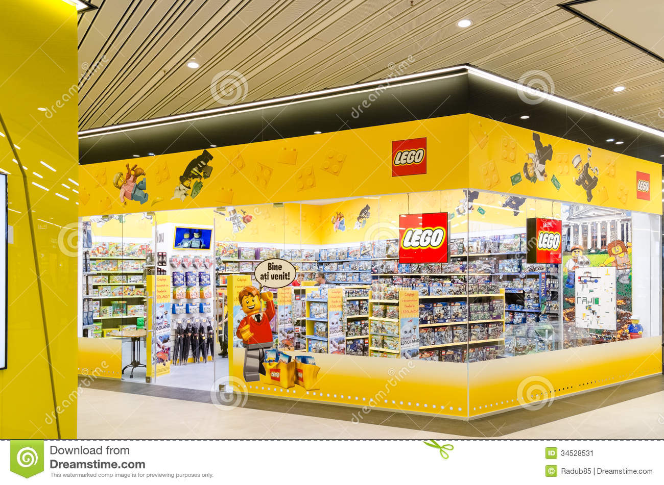 BUCHAREST, ROMANIA - OCTOBER 18: Lego Shop on October 18, 2013 in ...