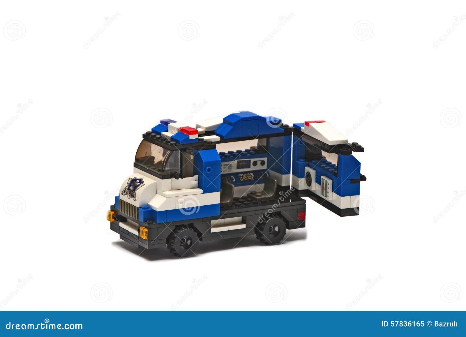 lego un jouet pour enfants voiture de police image stock image du detail fond 57836165. Black Bedroom Furniture Sets. Home Design Ideas