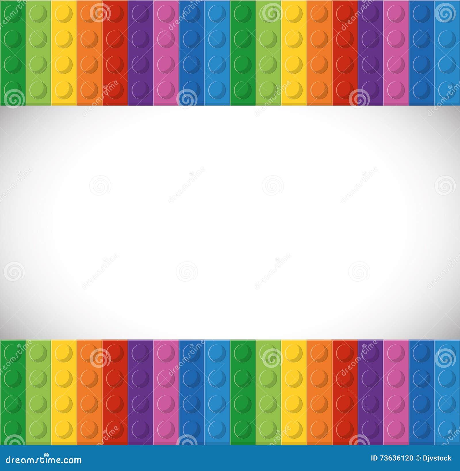 Legopictogram Abstract cijfer Grafische vector