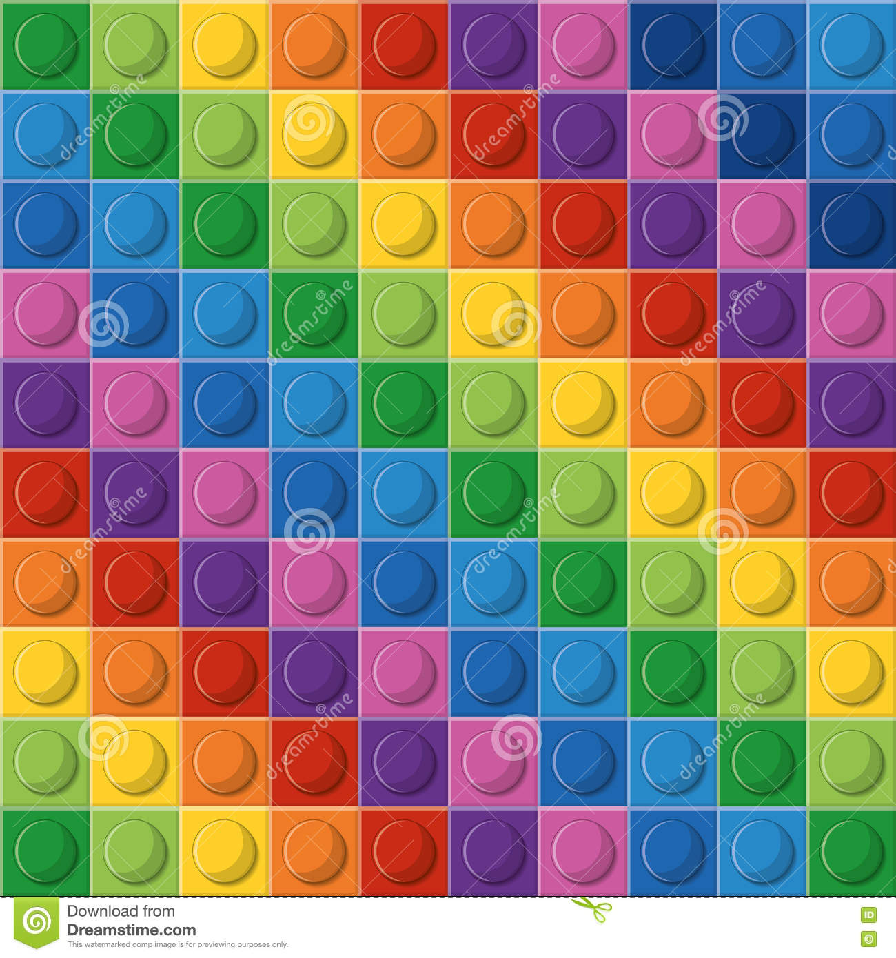 Legopictogram Abstract cijfer multicolored Grafische vector