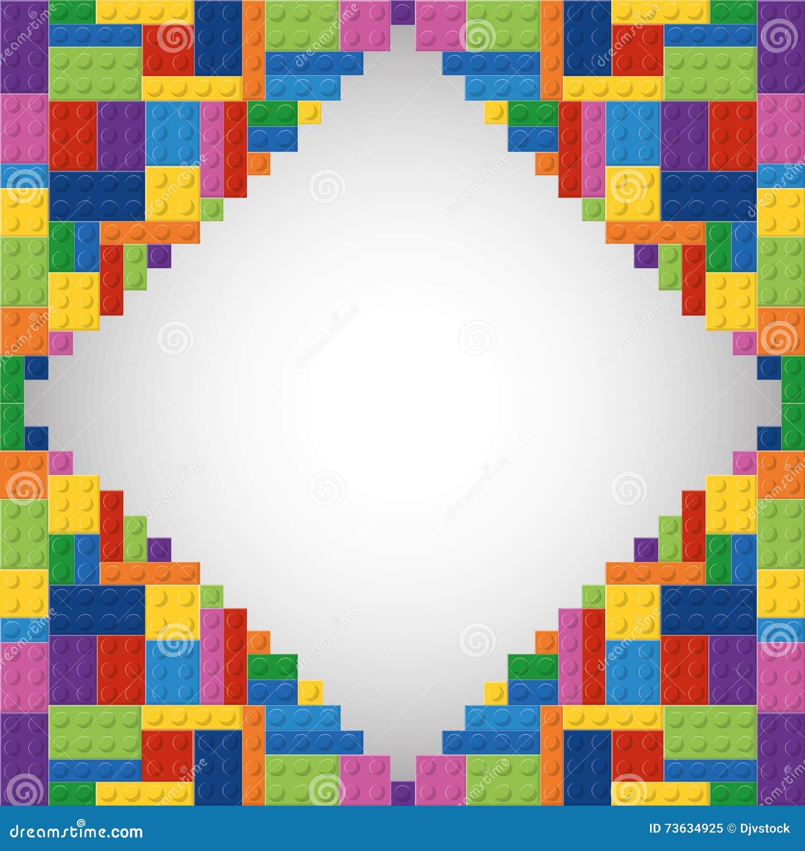 Legopictogram Abstract kadercijfer Grafische vector
