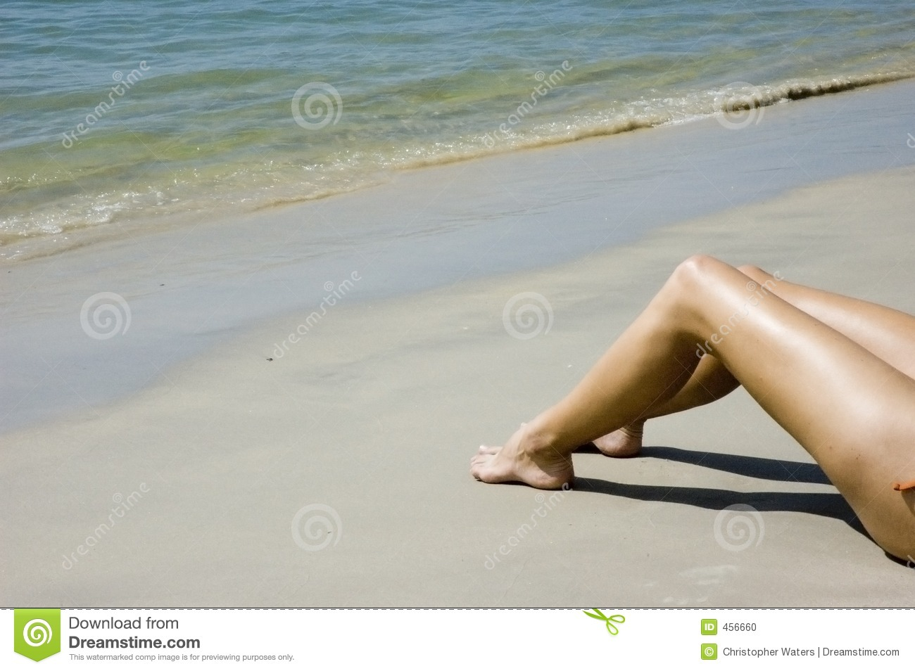 Download Legs on the beach stock photo. Image of clear, sunbathing - 456660