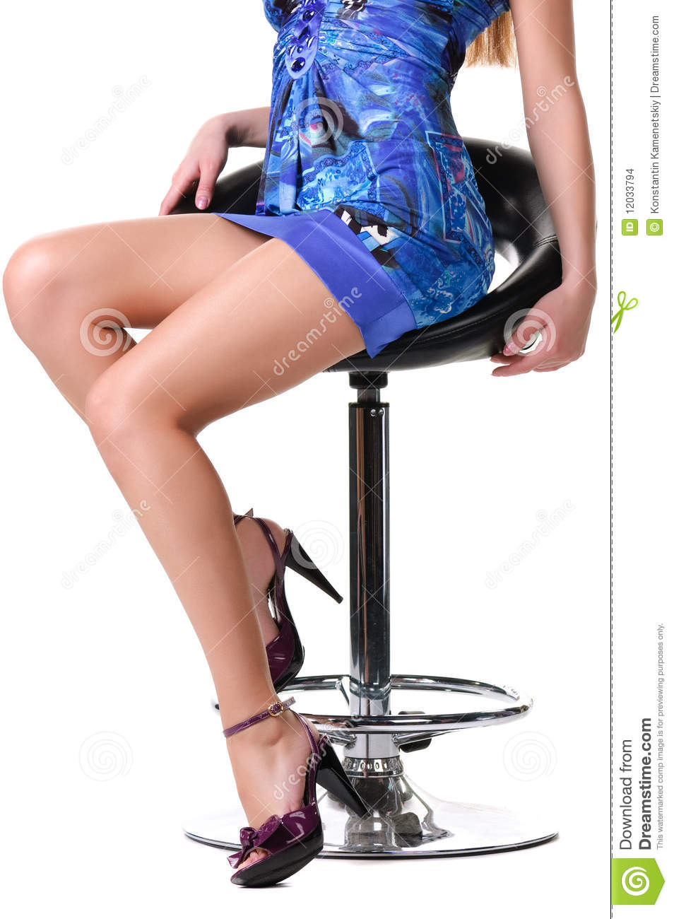sexy females sitting on chairs