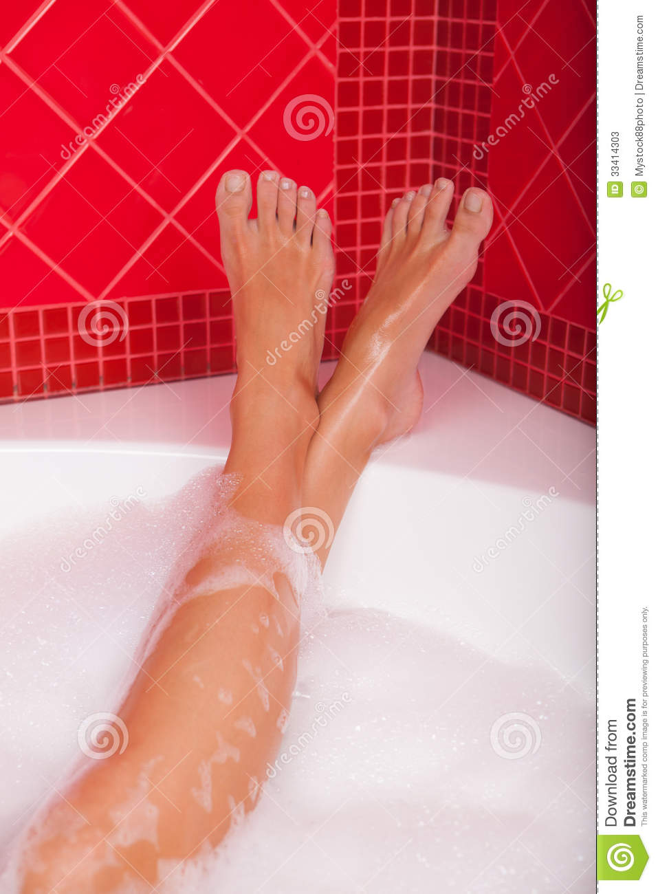 Legs In Bubble Bath Stock Image Image Of Foot Adult