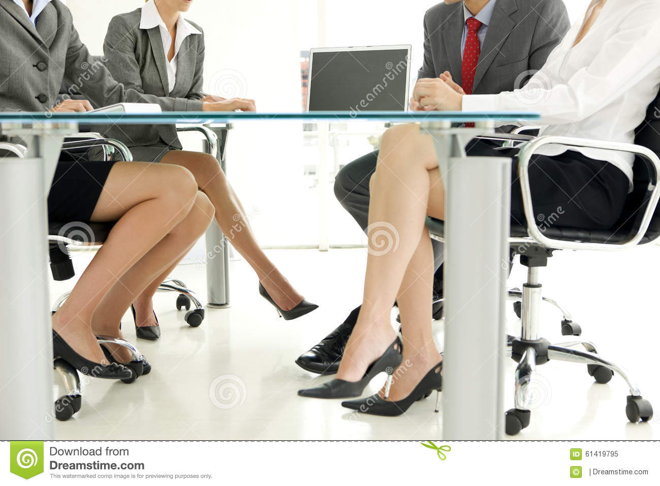Legs Under Table : Legs At Business Meeting Stock Photo - Image: 61419795
