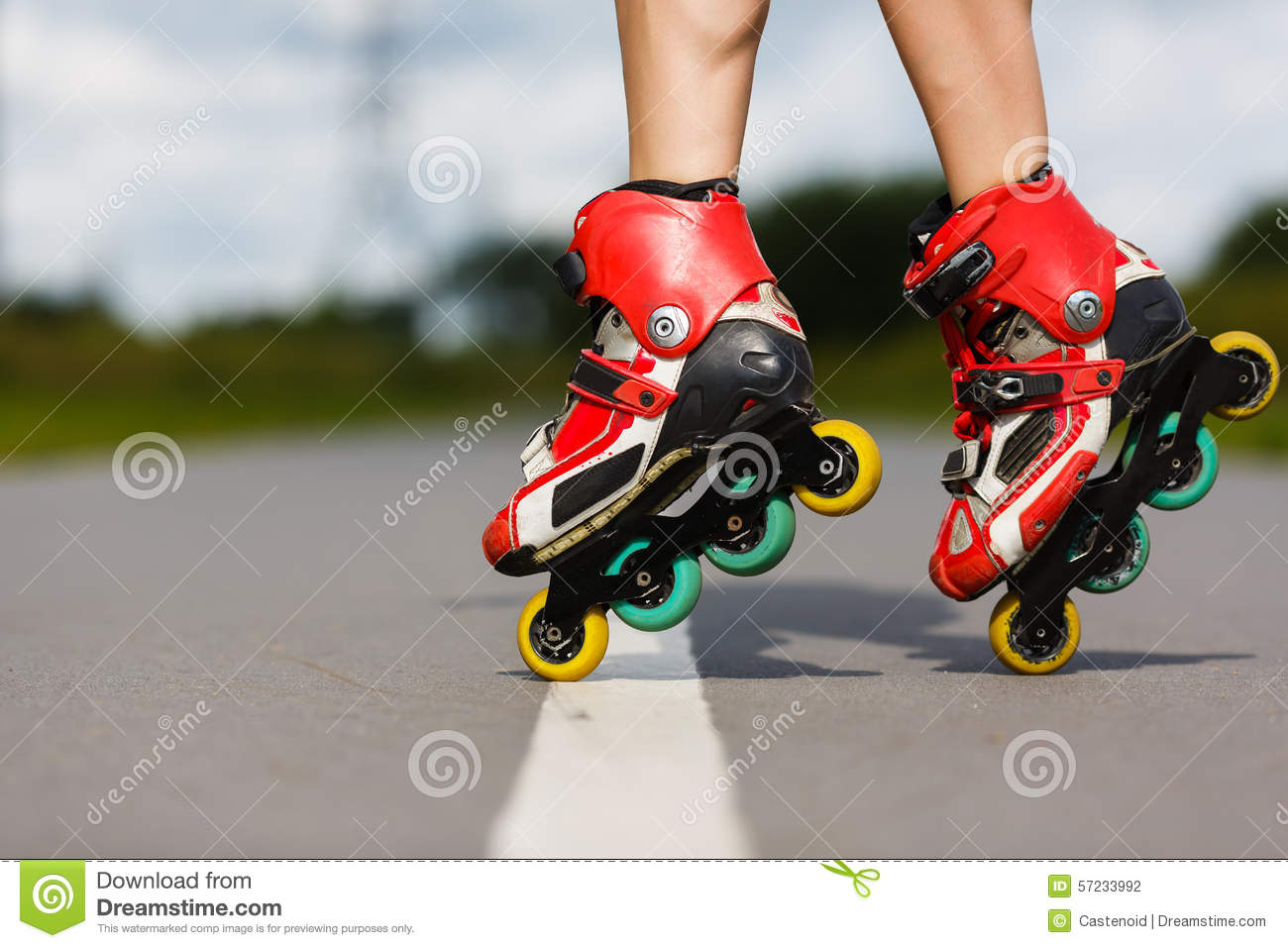 Roller skates exercise