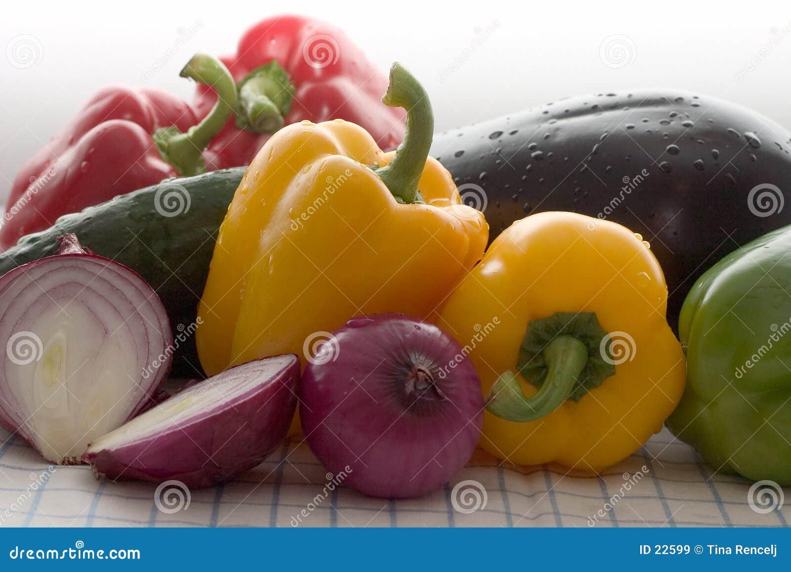 Legumes frescos coloridos