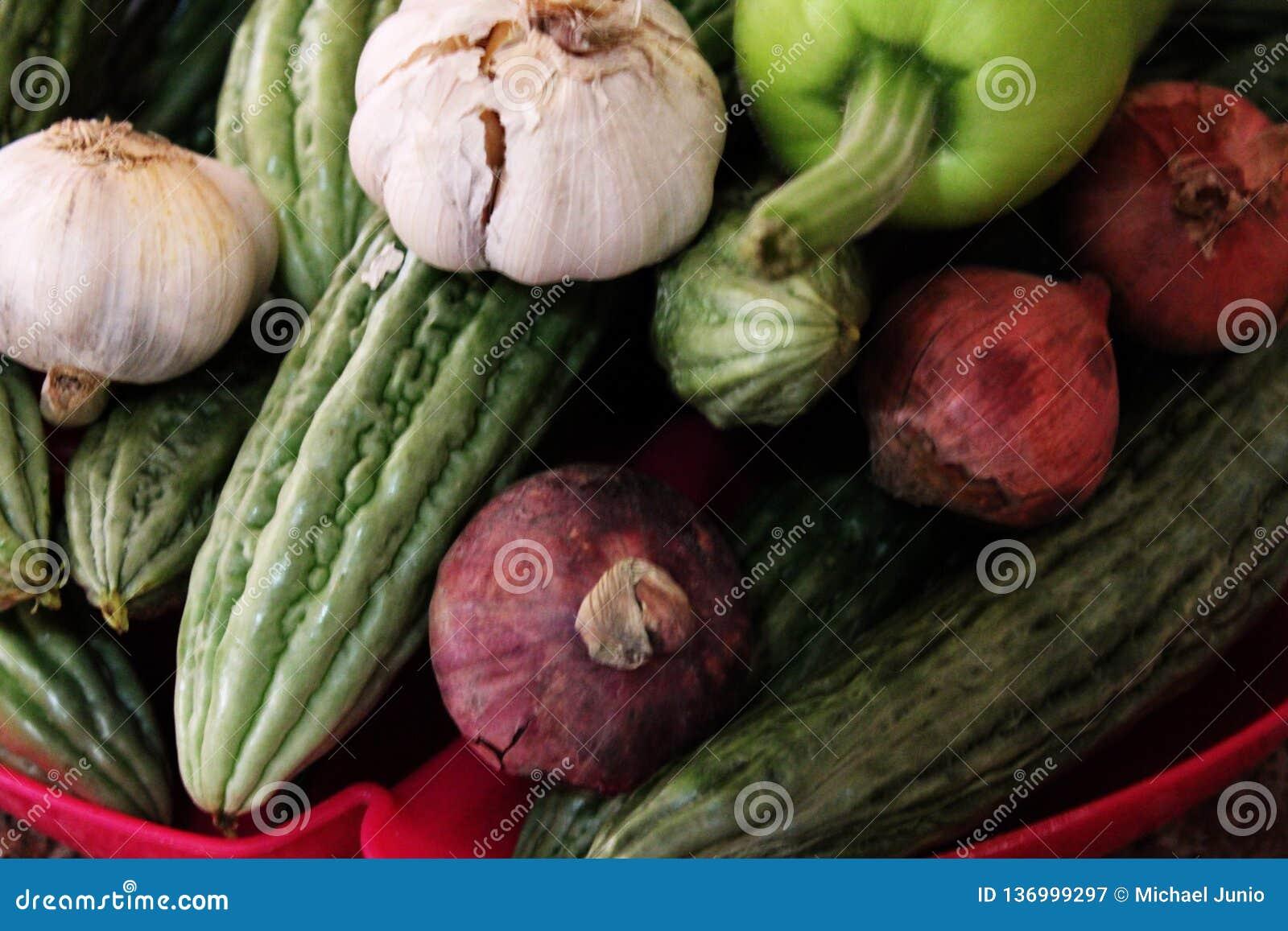 Legumes misturados verdes para a boa saúde